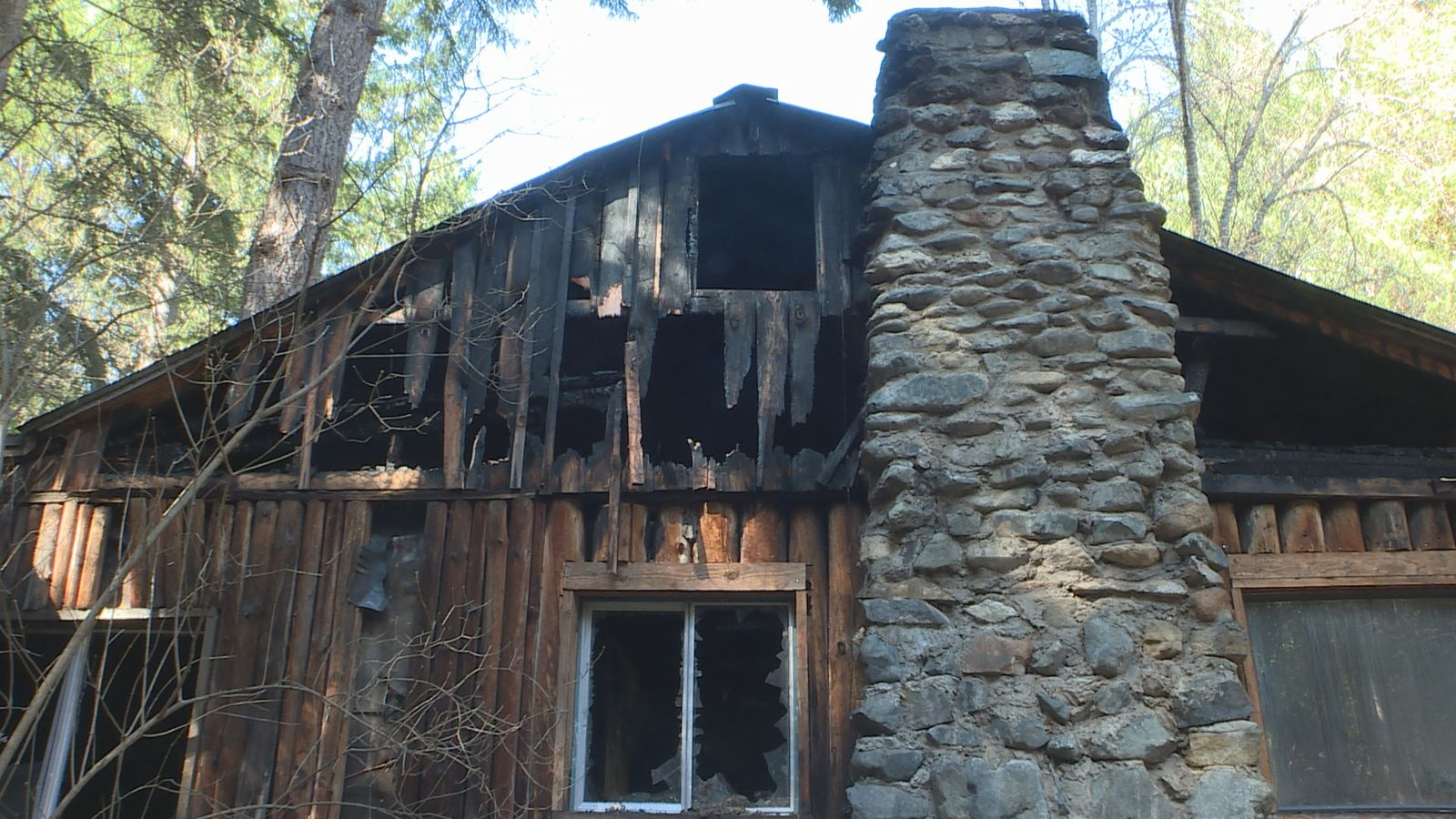The house in Williams is said to be a total loss after a chimney fire broke out. (Sammy Shaktah/News 10){ }{ }