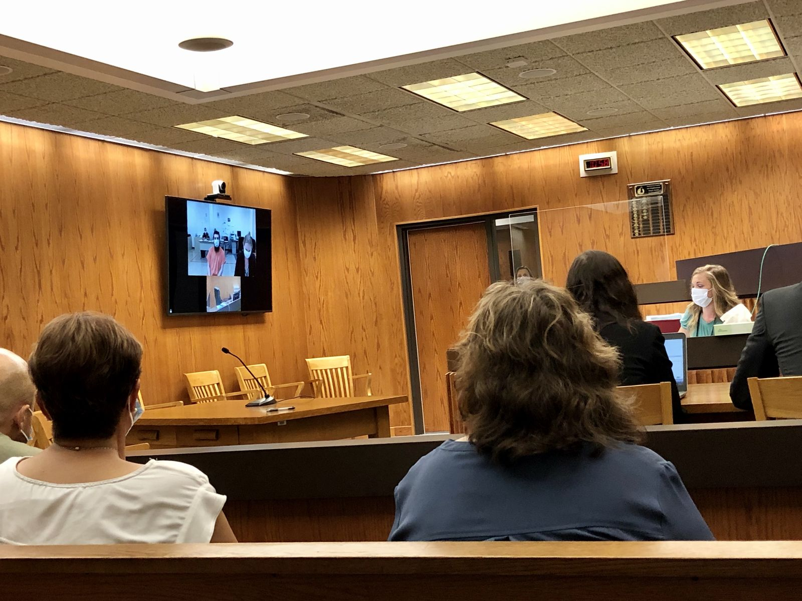 Daniel Navarro appears in Fond du Lac County court via video conference, July 9, 2020. (WLUK/Monique Lopez)