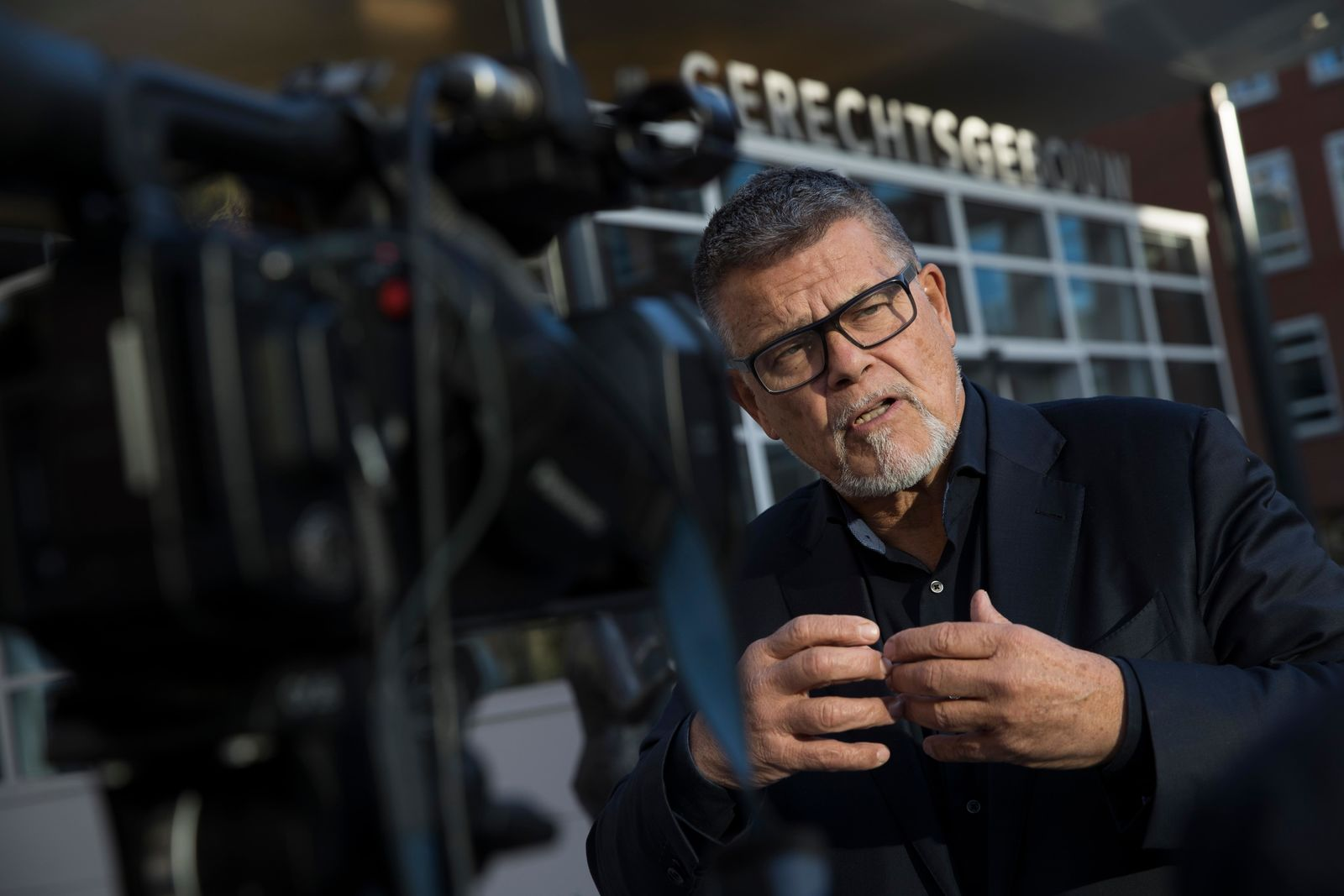Self-styled Dutch positivity guru Emile Ratelband answers questions during an interview in Utrecht, Netherlands. (AP Photo/Peter Dejong)
