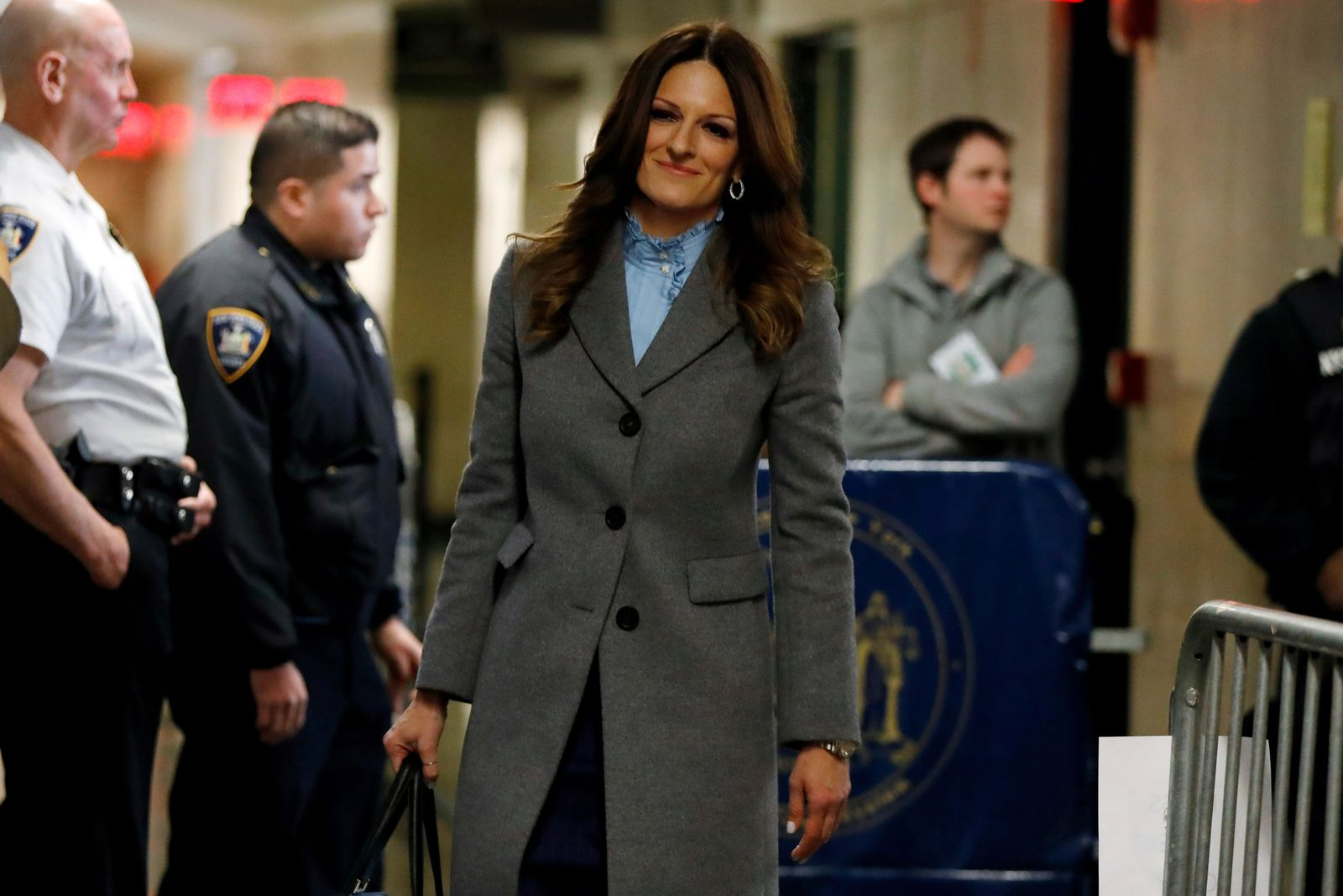 Donna Rotunno, attorney for Harvey Weinstein, arrives at court for his rape trial, in New York, Wednesday, Jan. 22, 2020. (AP Photo/Richard Drew)
