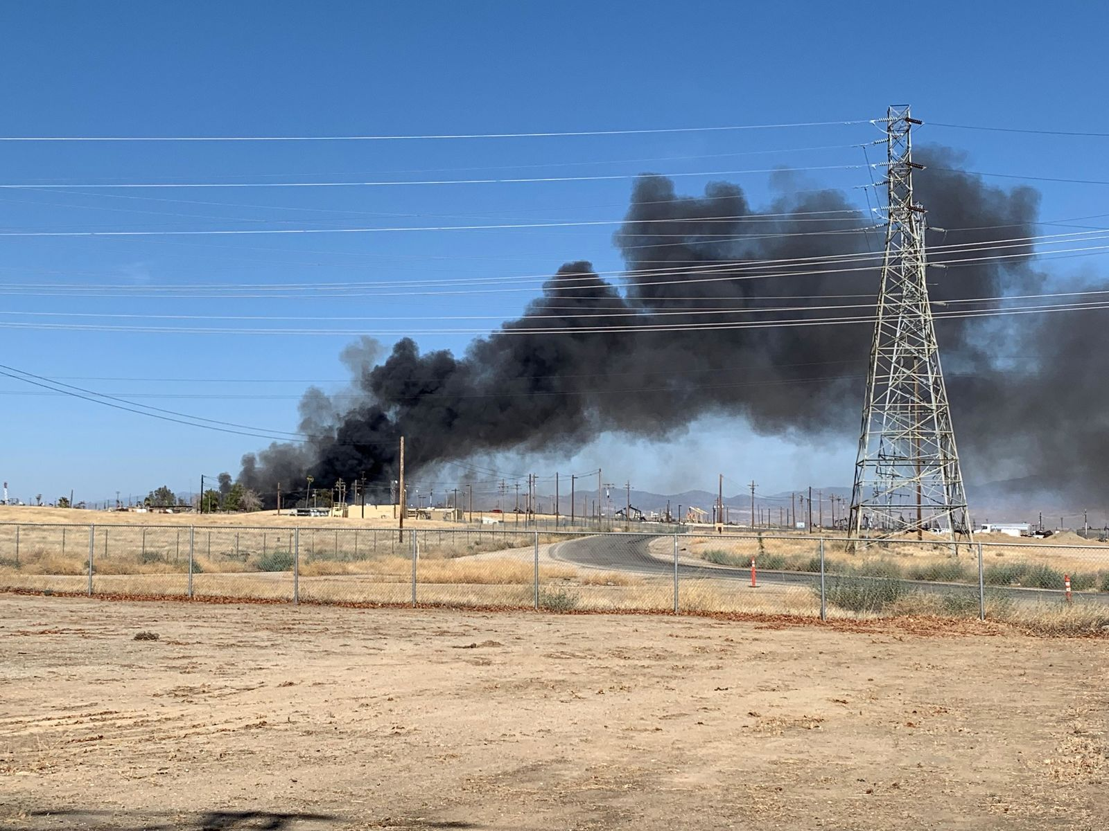 Firefighters respond to a fire in Oildale, Calif., on Saturday, Aug. 17, 2019.