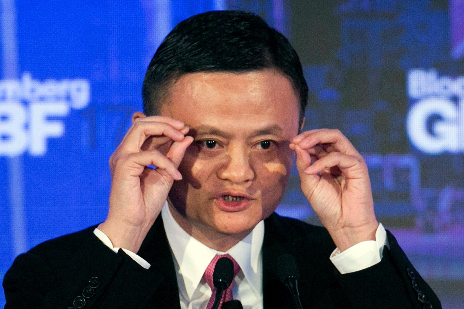 In this Sept. 20, 2017, file photo, Alibaba Group Chairman Jack Ma speaks at the Bloomberg Global Business Forum in New York.{ } (AP Photo/Mark Lennihan, File)