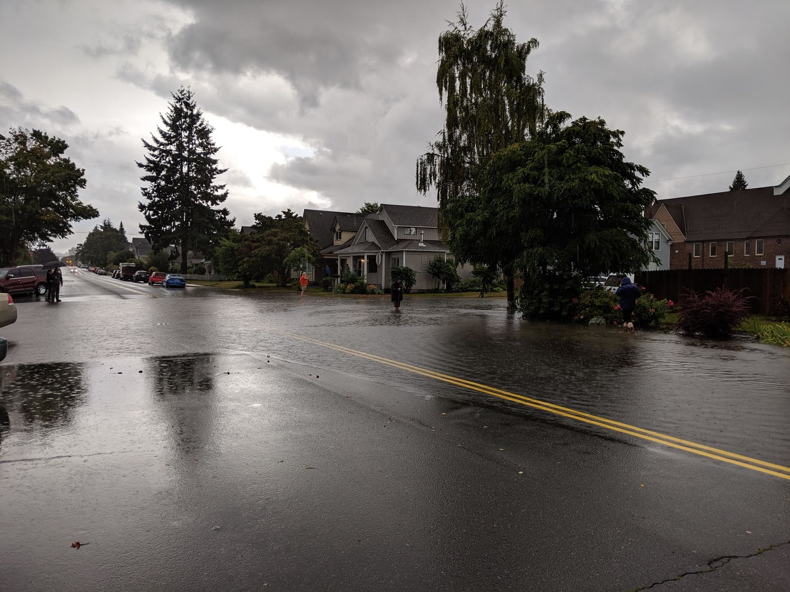 Everett street flooding at Wetmore & 20th (Photo: Katie Heim)
