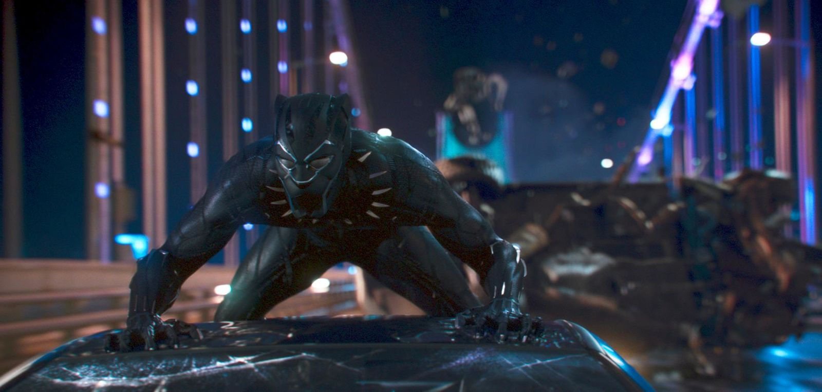 "This image released by Disney shows a scene from Marvel Studios' ""Black Panther."" The film is nominated for an Oscar for best picture. The 91st Academy Awards will be held on Sunday.  (Matt Kennedy/Marvel Studios-Disney via AP)"