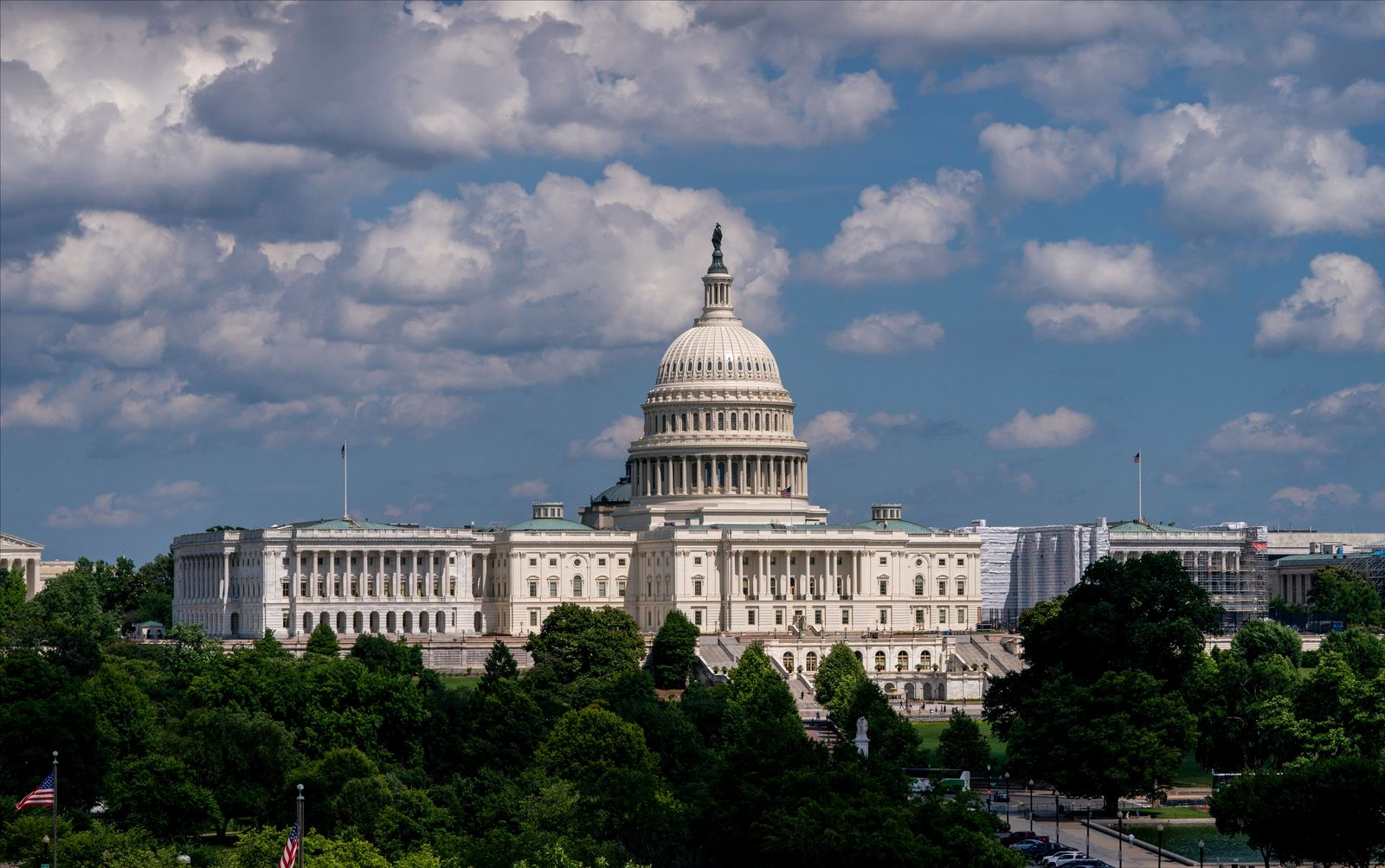 In this June 20, 2019 photo, the Capitol is seen from the roof of the Canadian Embassy in Washington. Health care is on the agenda for Congress when lawmakers return, and it's not another battle over the Obama-era Affordable Care Act. (AP Photo/J. Scott Applewhite)