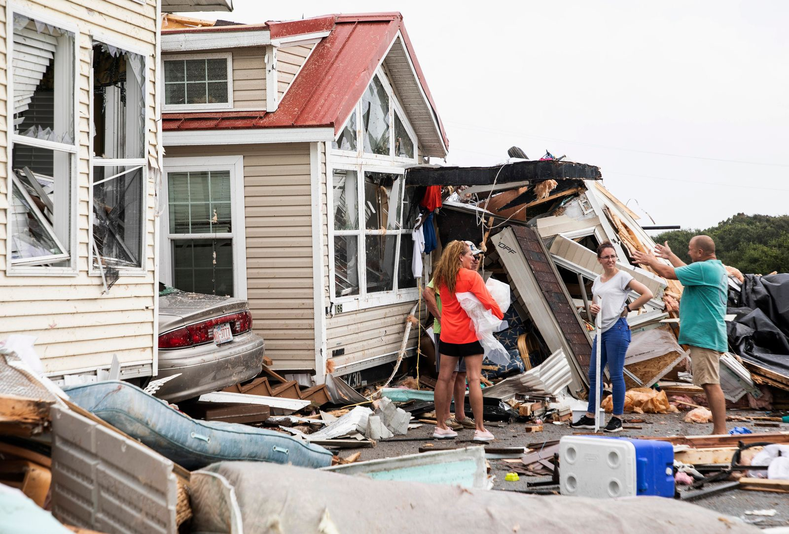 FILE - Gov. Roy Cooper is seeking a federal disaster declaration for 13 counties in North Carolina following Hurricane Dorian. (Julia Wall/The News & Observer via AP)
