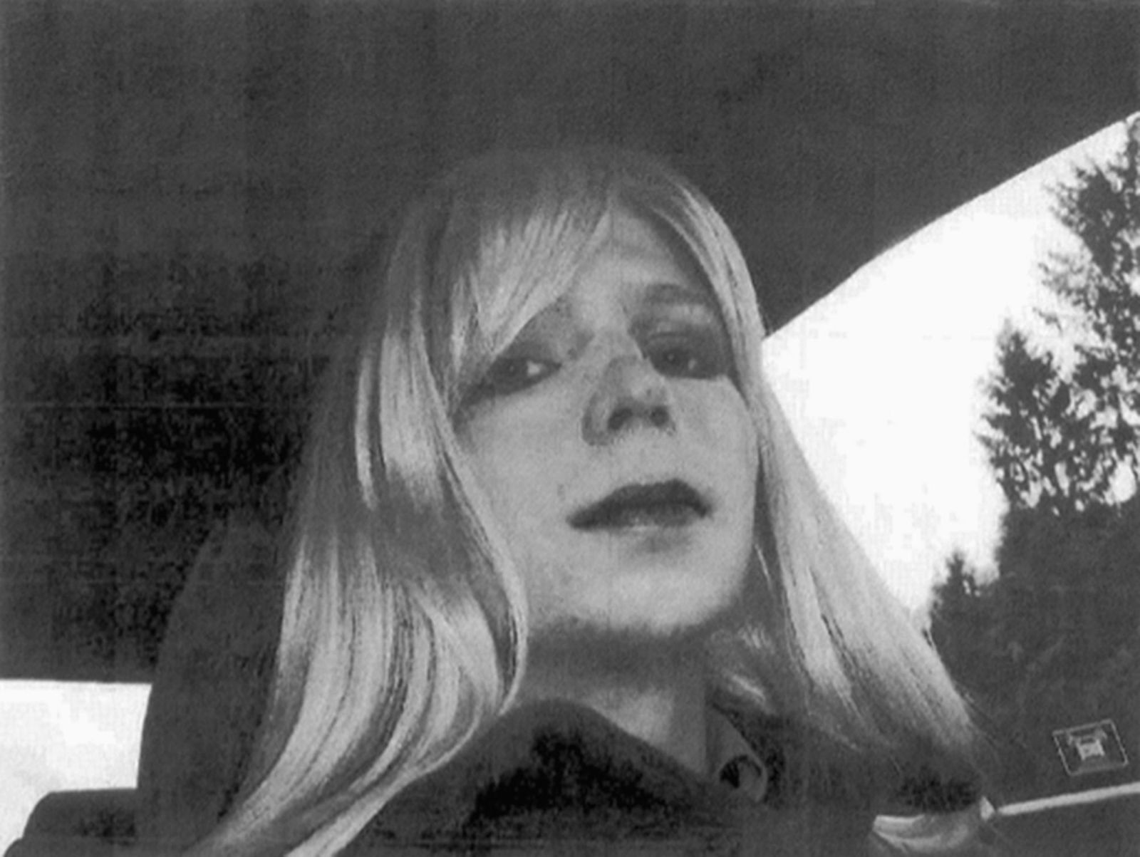 In this undated file photo provided by the U.S. Army, Pfc. Chelsea Manning poses for a photo wearing a wig and lipstick. (U.S. ARMY/AP)