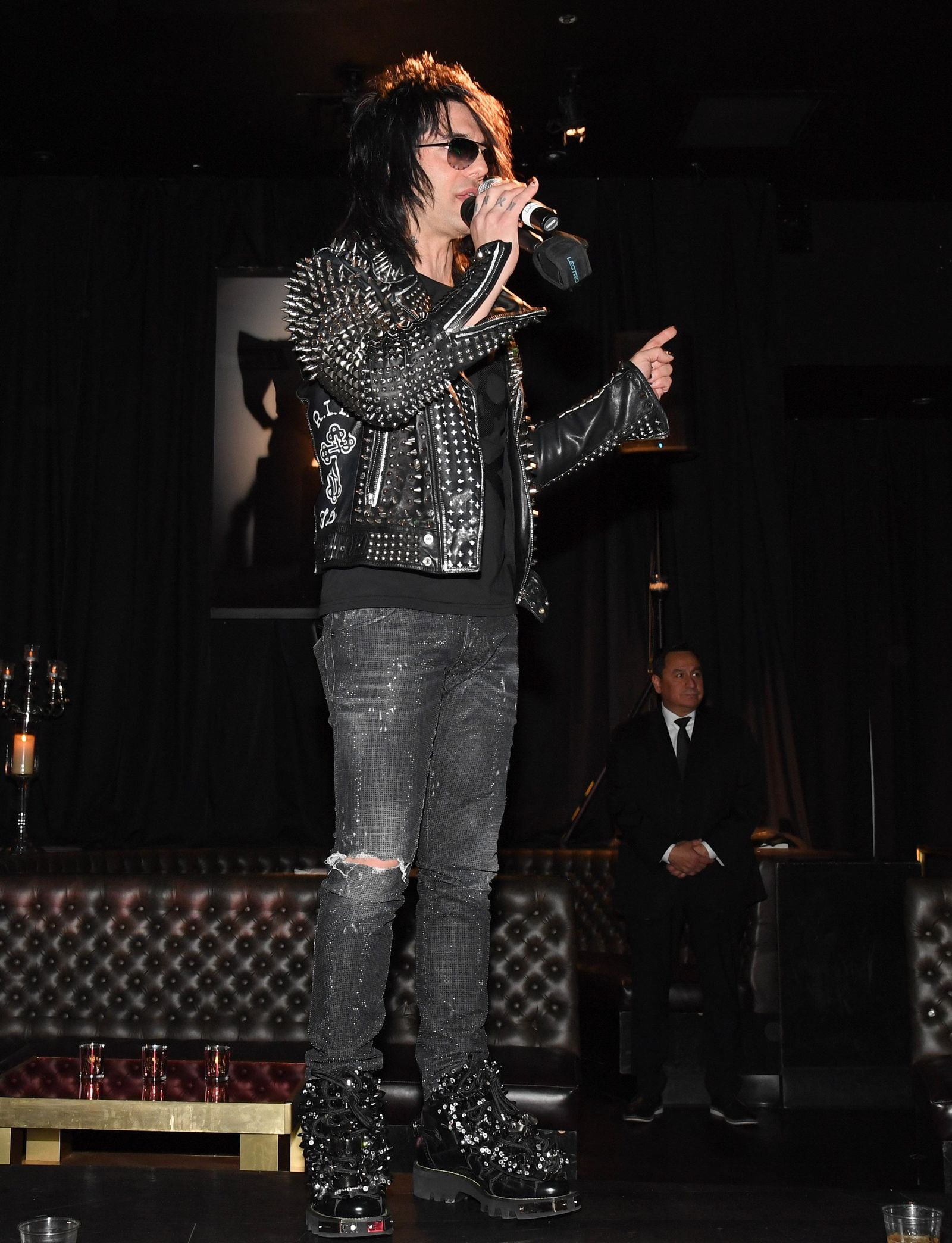 "LAS VEGAS, NEVADA - JANUARY 19:  Illusionist Criss Angel speaks at the after party for the grand opening of ""Criss Angel MINDFREAK"" at Planet Hollywood Resort & Casino on January 19, 2019 in Las Vegas, Nevada.  (Photo by Ethan Miller/Getty Images for Planet Hollywood Resort & Casino)"