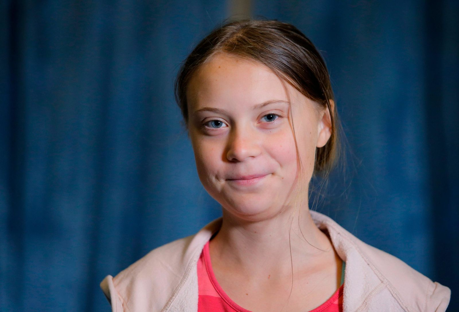 FILE - In this Friday, Sept. 20, 2019 file photo, Swedish environmental activist Greta Thunberg attends an interview with the Associated Press before the Climate Strike, at City Hall, in New York. . (AP Photo/Eduardo Munoz Alvarez, File)