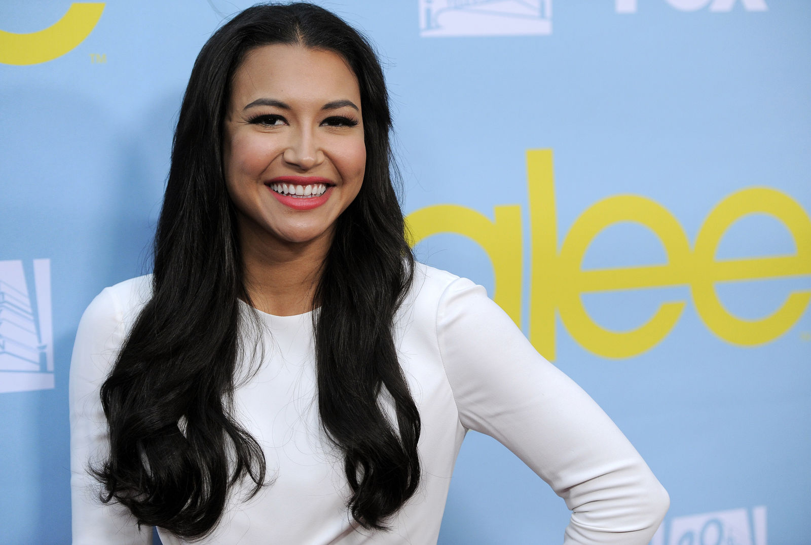"FILE - Naya Rivera, a cast member in the television series ""Glee,"" poses at a screening and Q&A for the show, at the Academy of Television Arts and Sciences in Los Angeles on May 1, 2012. (AP Photo/Chris Pizzello, File)"