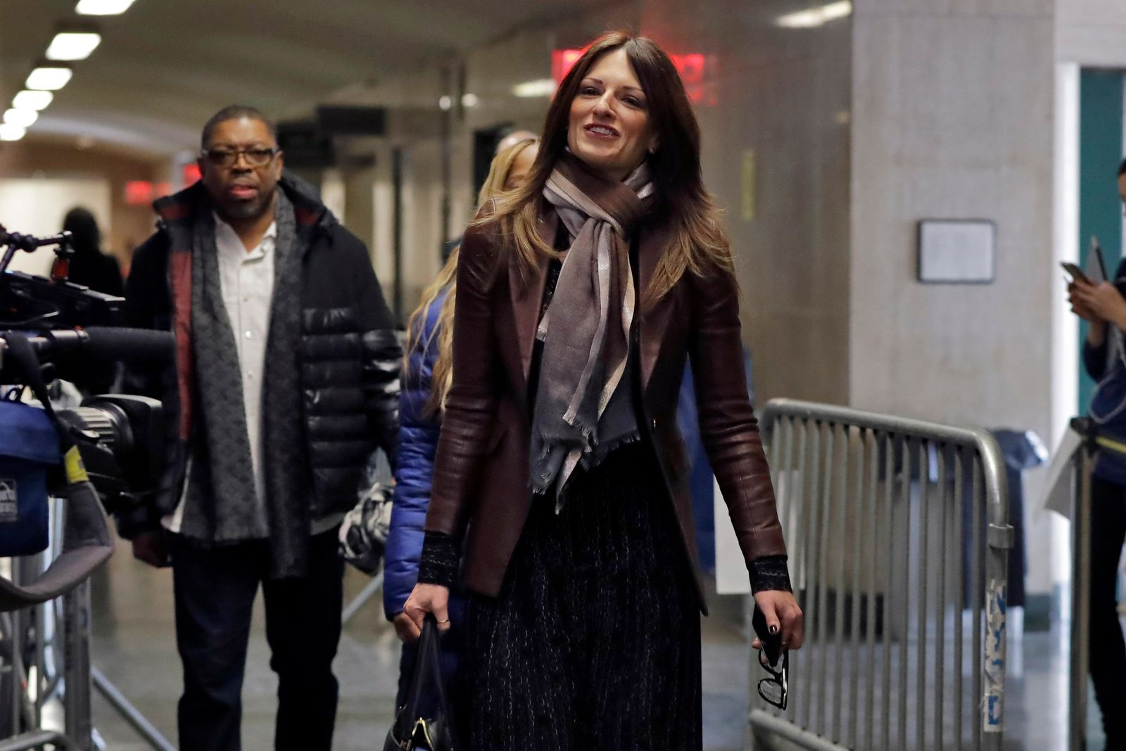 Donna Rotunno, attorney for Harvey Weinstein, arrives at court for his rape and sexual assault trial in New York, Friday, Jan. 24, 2020. (AP Photo/Richard Drew)