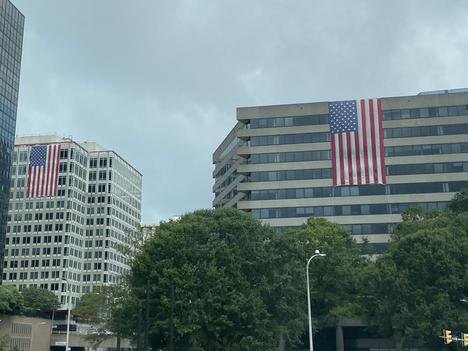 <p>This is the 14th year building owners in the Rosslyn neighborhood have come together to mark the anniversary with the American flag display. (ABC7)</p>