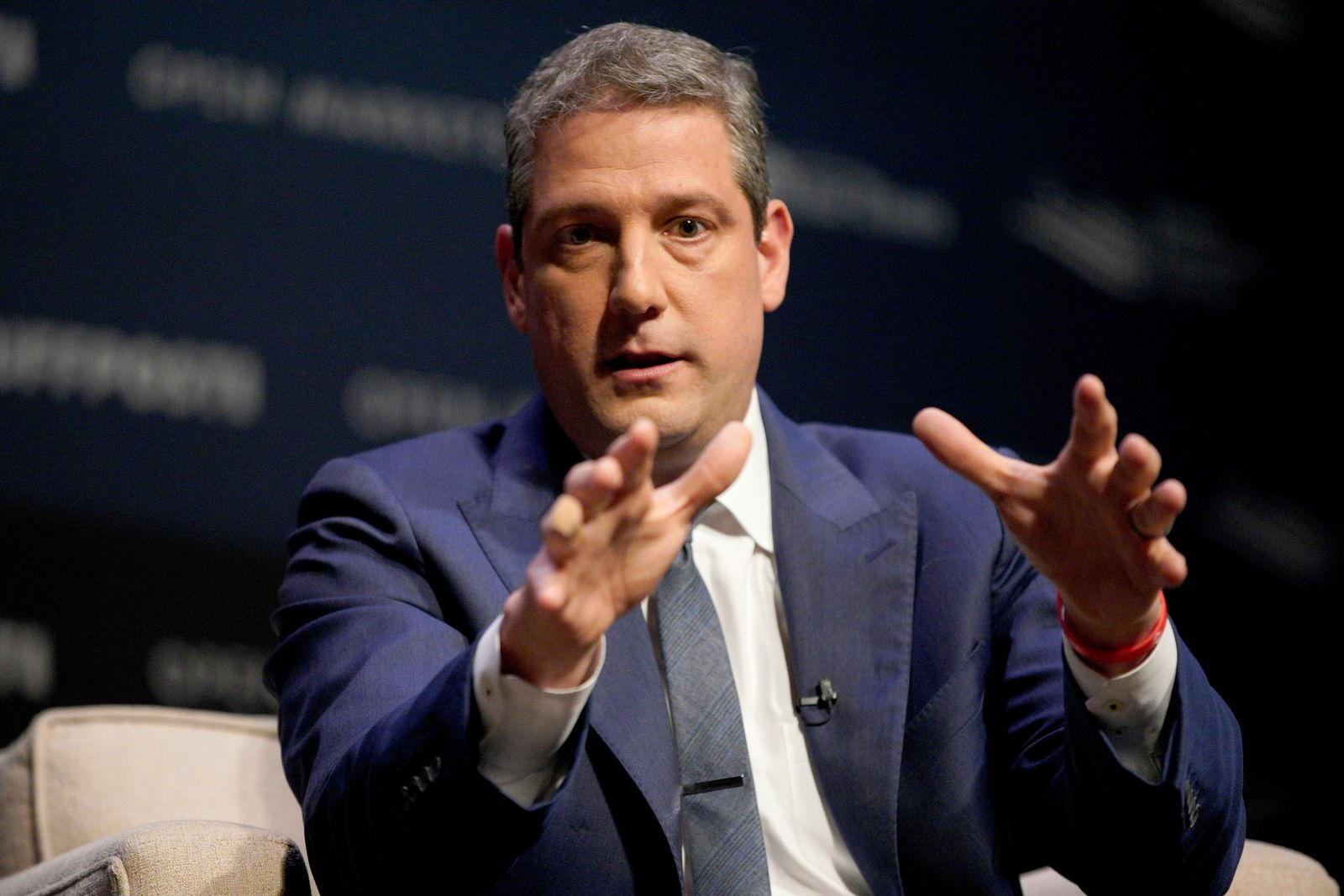 Rep. Tim Ryan, D-Ohio, speaks at the Heartland Forum on the campus of Buena Vista University in Storm Lake, Iowa, Saturday, March 30, 2019. (AP Photo/Nati Harnik)