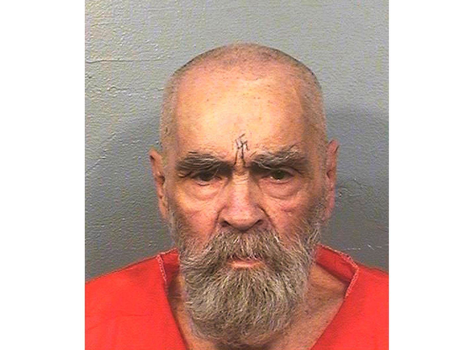 FILE - This Aug. 14, 2017 file photo provided by the California Department of Corrections and Rehabilitation shows Charles Manson.{ } (California Department of Corrections and Rehabilitation via AP, File)