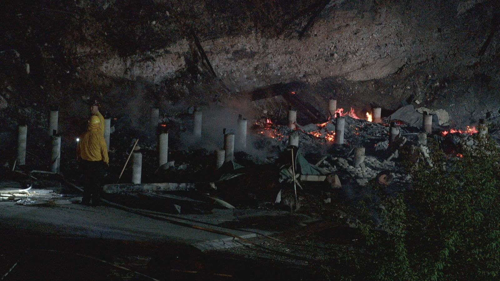 A cabin was completely destroyed by a fire that sparked in Tooele County overnight. (Photo: KUTV)