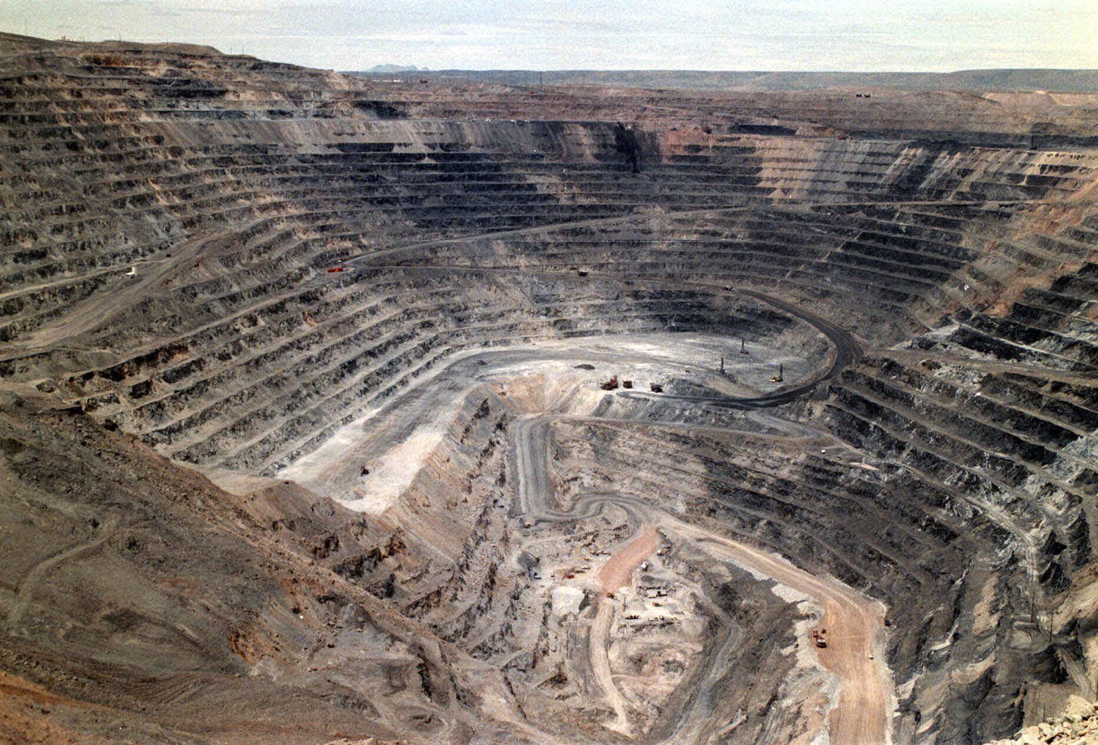 FILE - This undated file photo shows Barrick Goldstrike Mines' Betze-Post open pit near Carlin, Nev.{ } (Adella Harding/The Daily Free Press via AP, File)