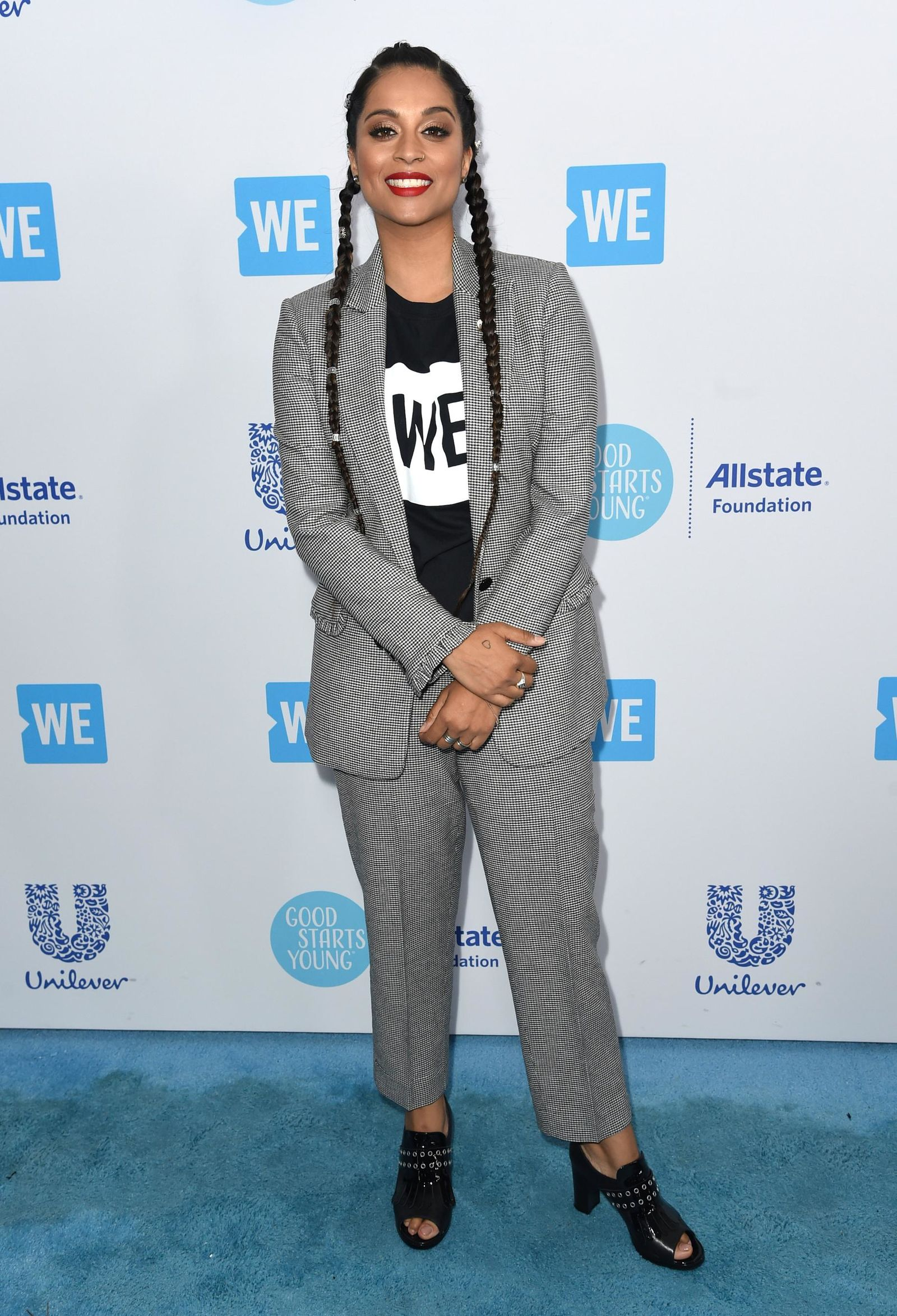 FILE - In this April 19, 2018 file photo, Lilly Singh arrives at WE Day California at The Forum in Inglewood, Calif. (Photo by Richard Shotwell/Invision/AP, File)
