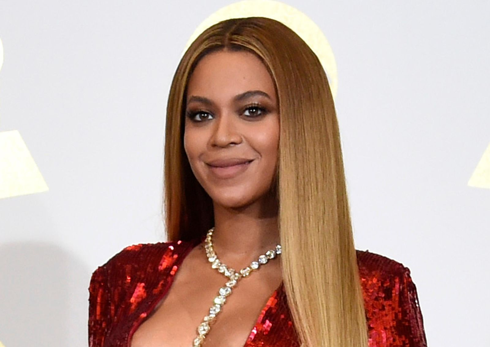 FILE - In this Feb. 12, 2017 file photo, Beyonce poses in the press room at the 59th annual Grammy Awards in Los Angeles.{ } (Photo by Chris Pizzello/Invision/AP, File)