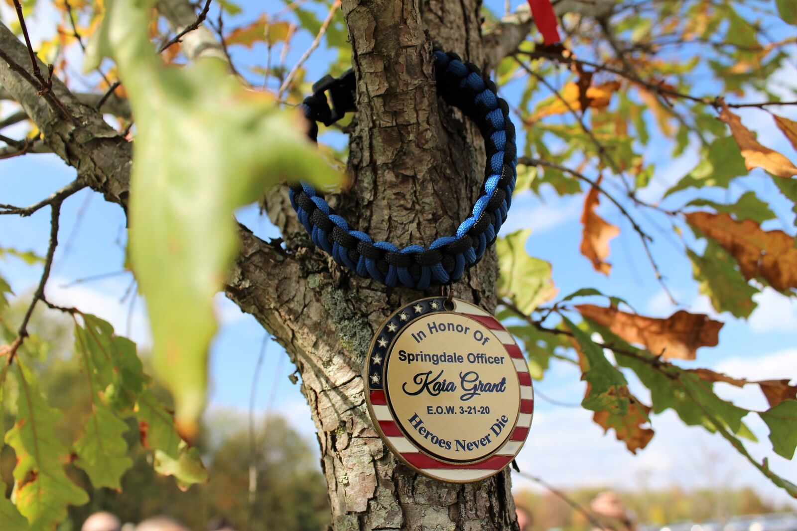 A special tribute to Officer Kaia Grant is growing in Summit Park's dog park in Blue Ash. (Blue Ash Police Association)