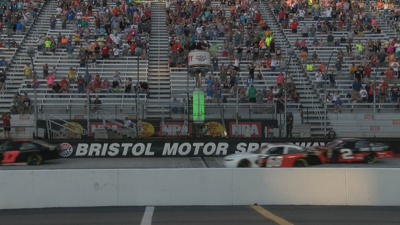 #2 Tyler Reddick is among those taking the green flag for the Food City 300. (WCYB Photo)
