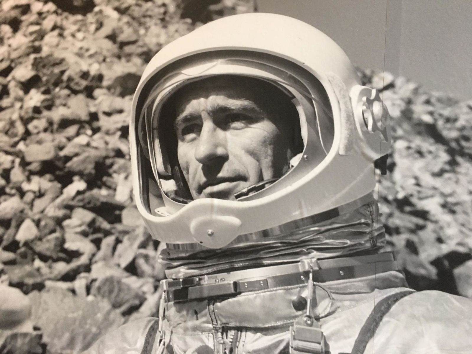 """When he fell, they used duct tape to patch the suit,"" said Laura Ferguson, senior curator at the  High Desert Museum. ""I don't think that's a strategy they would in fact use in space.""{ }(Moon Country exhibit at High Desert Museum)"