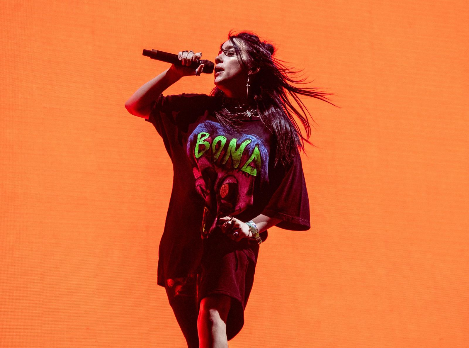 FILE - This April 20, 2019 file photo shows Billie Eilish performing at the Coachella Music & Arts Festival in Indio, Calif. (Photo by Amy Harris/Invision/AP)