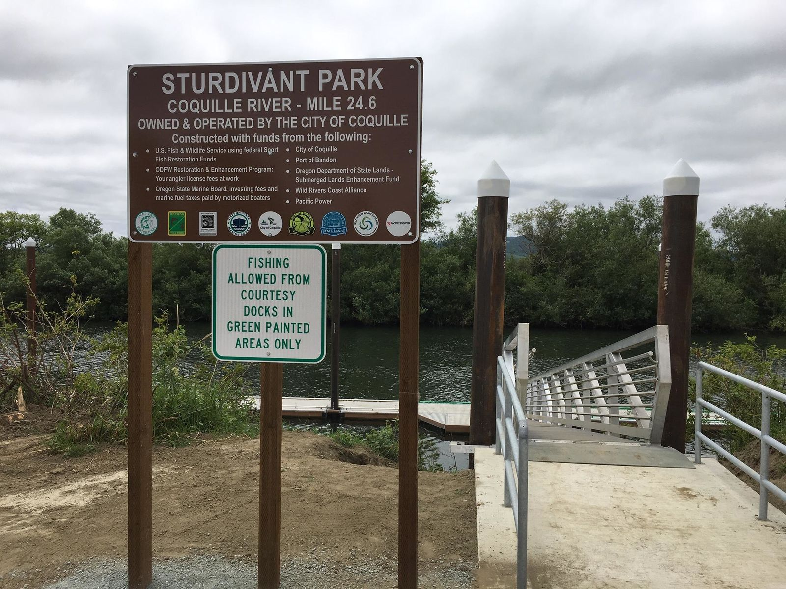 The City of Coquille opens a new facility at Sturdivant Park, June 13, 2019. (SBG)