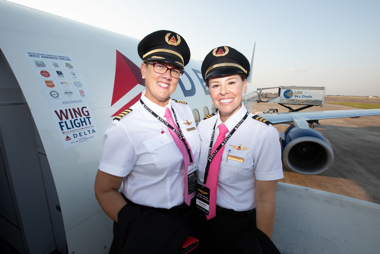 The plane had an all-female pilot and flight crew, ramp agents, and gate agents on the ground, and women were in the control tower giving pilots instructions (Delta)