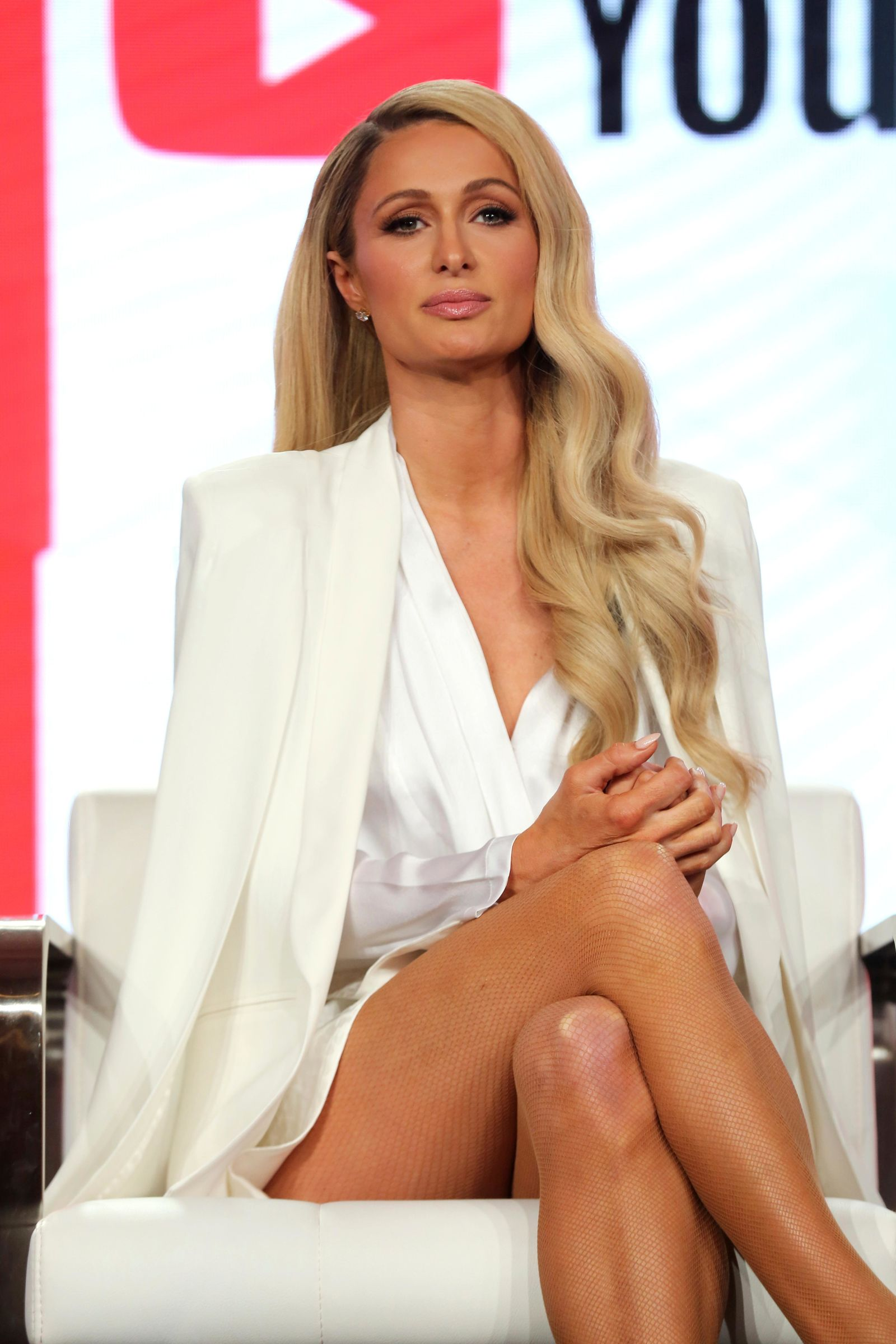 "Paris Hilton speaks at the ""Untitled Paris Hilton Documentary"" panel during the YouTube TCA 2020 Winter Press Tour at the Langham Huntington, Saturday, Jan. 18, 2020, in Pasadena, Calif. (Photo by Willy Sanjuan/Invision/AP)"