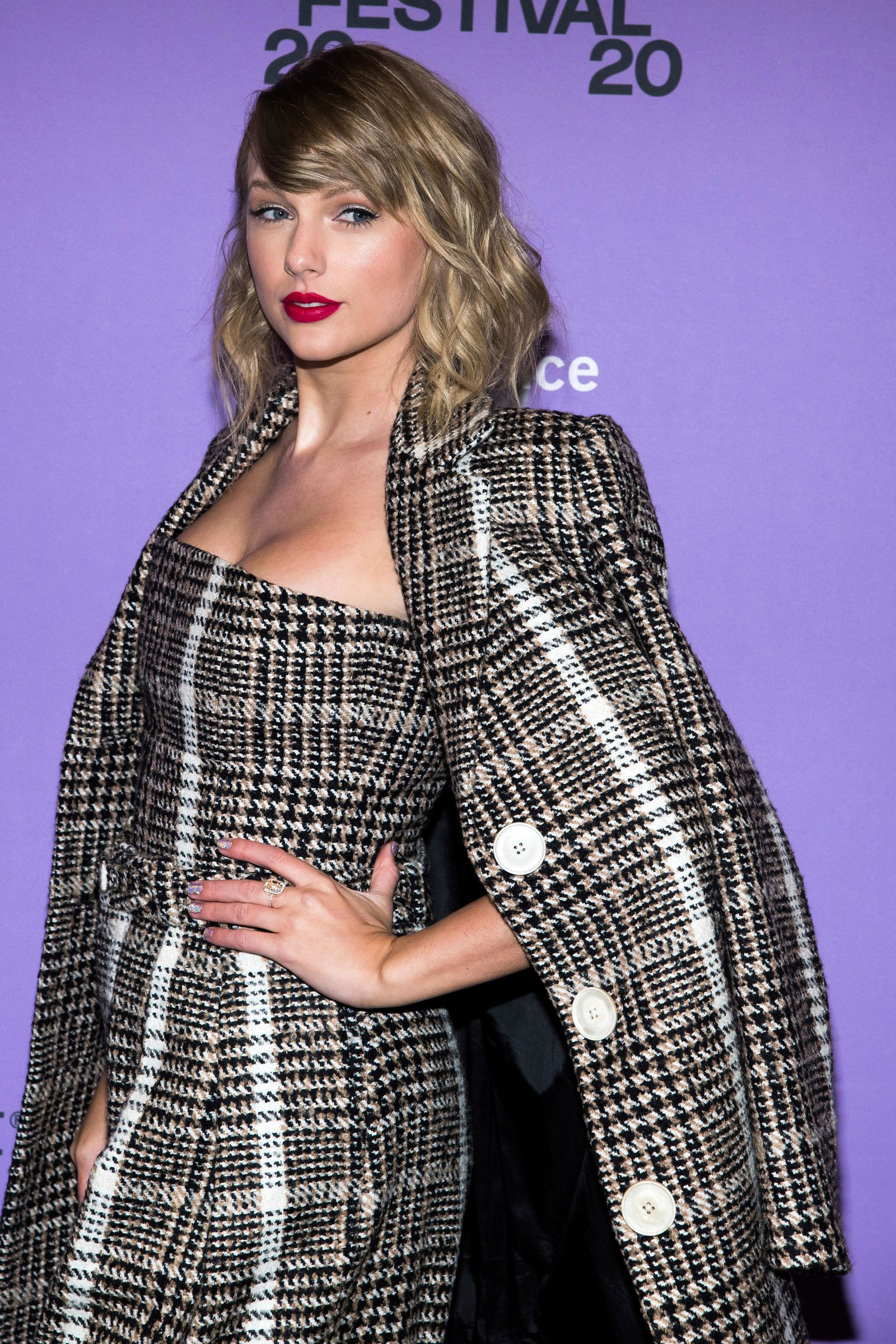"Taylor Swift attends the premiere of ""Miss Americana"" at the Eccles Theater during the 2020 Sundance Film Festival on Thursday, Jan. 23, 2020, in Park City, Utah. (Photo by Charles Sykes/Invision/AP)"