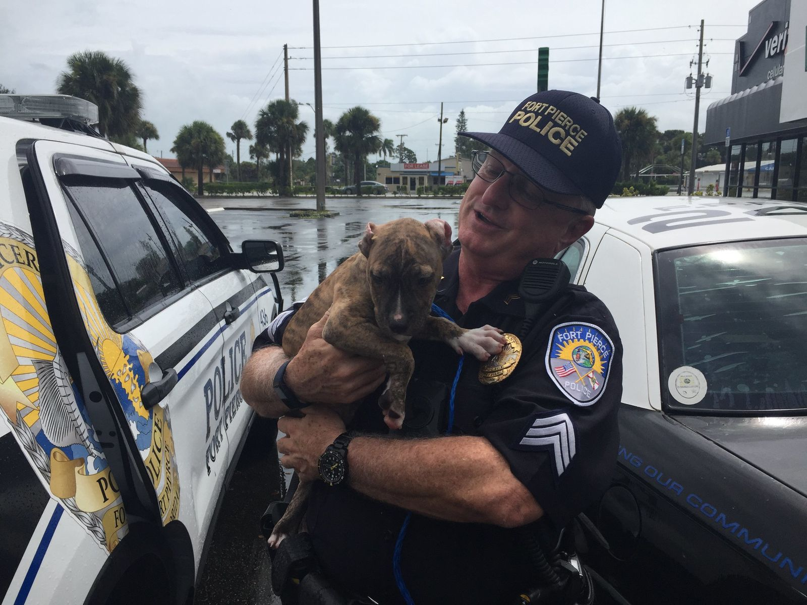 Fort Pierce police make first Hurricane Dorian rescue (Fort Pierce Police Department)