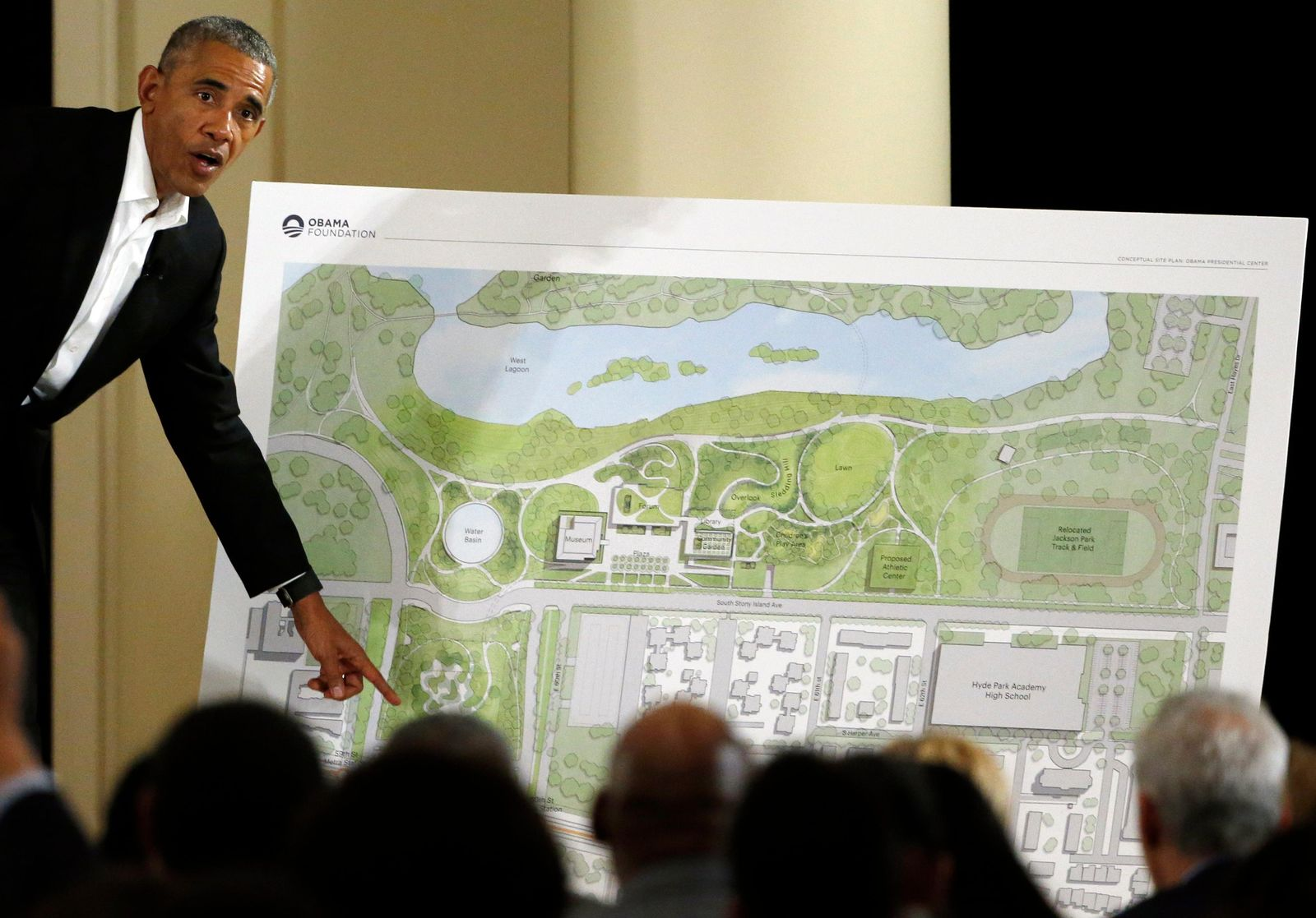 FILE - In this May 3, 2017 file photo, former President Barack Obama speaks at a community event on the Presidential Center at the South Shore Cultural Center in Chicago. (AP Photo/Nam Y. Huh, File)