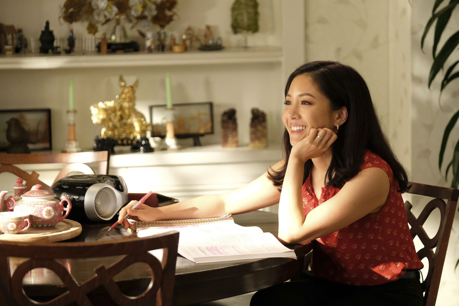 "This undated photo made available by ABC shows Constance Wu in the Oct. 18, 2019 television episode of ""Fresh Off the Boat."" after six seasons, the sitcom will air its final episode on Friday, Feb. 21, 2020. (John Fleenor/ABC via AP)"