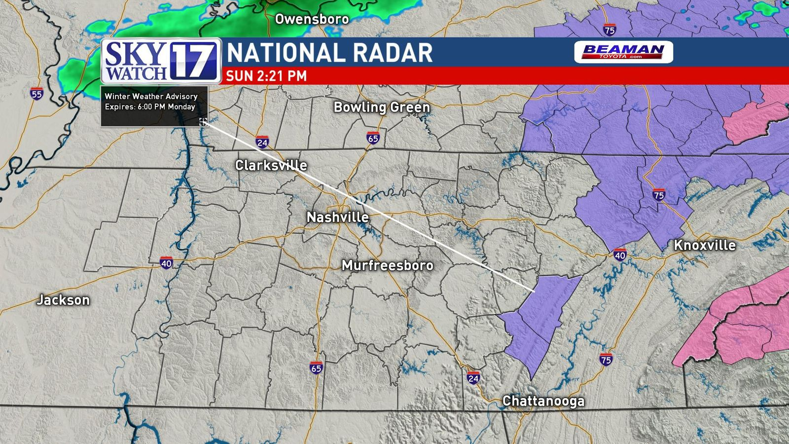 <p>FOX 17 News is in a Code Red alert for the threat of snow in the Cumberland Plateau. (SkyWatch 17).</p>