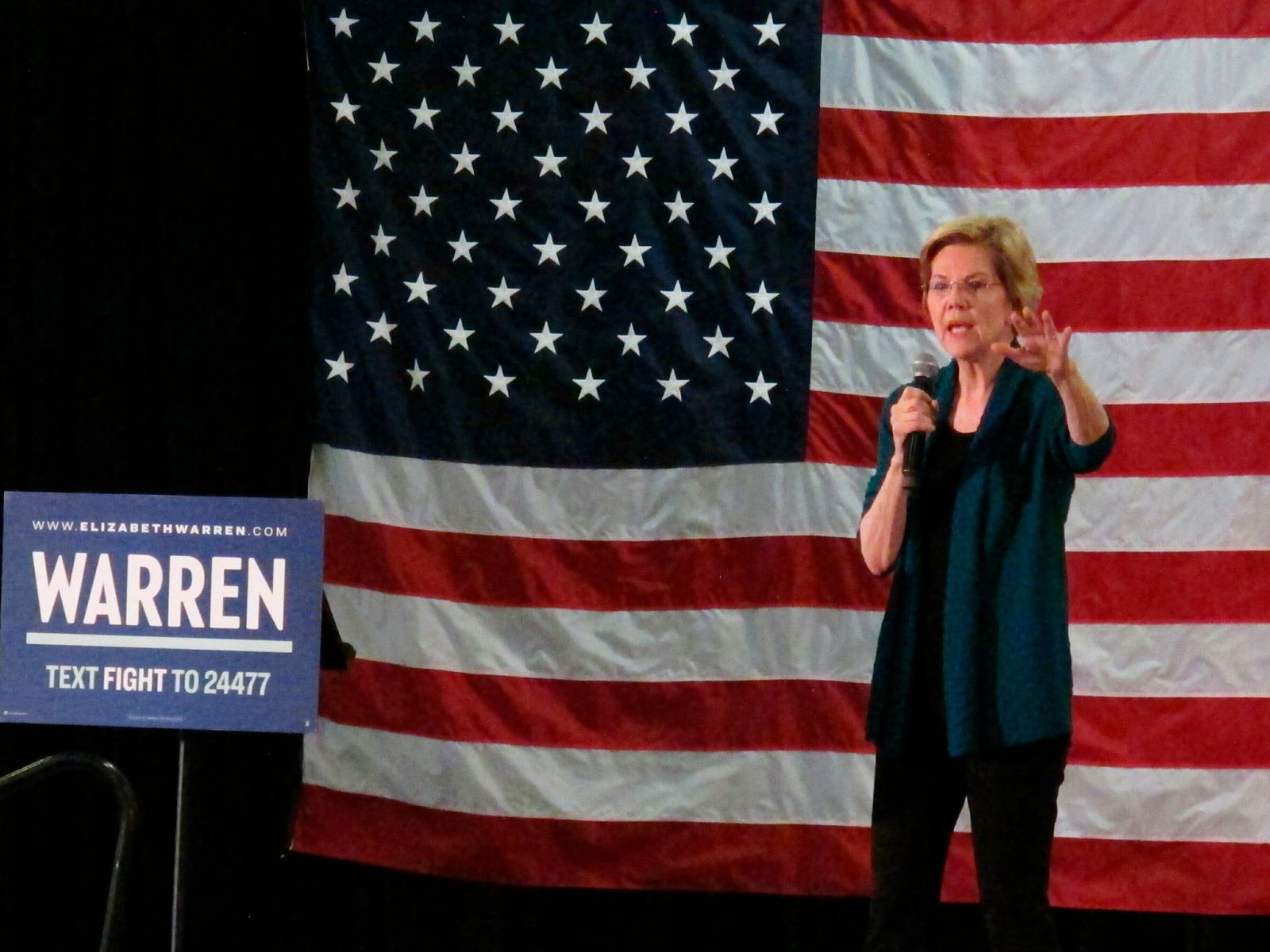 Democratic presidential candidate Elizabeth Warren speaks to a group of about 400 potential voters at a high school on Sunday, March 17, 2019, in Memphis, Tenn. (AP Photo/Adrian Sainz)