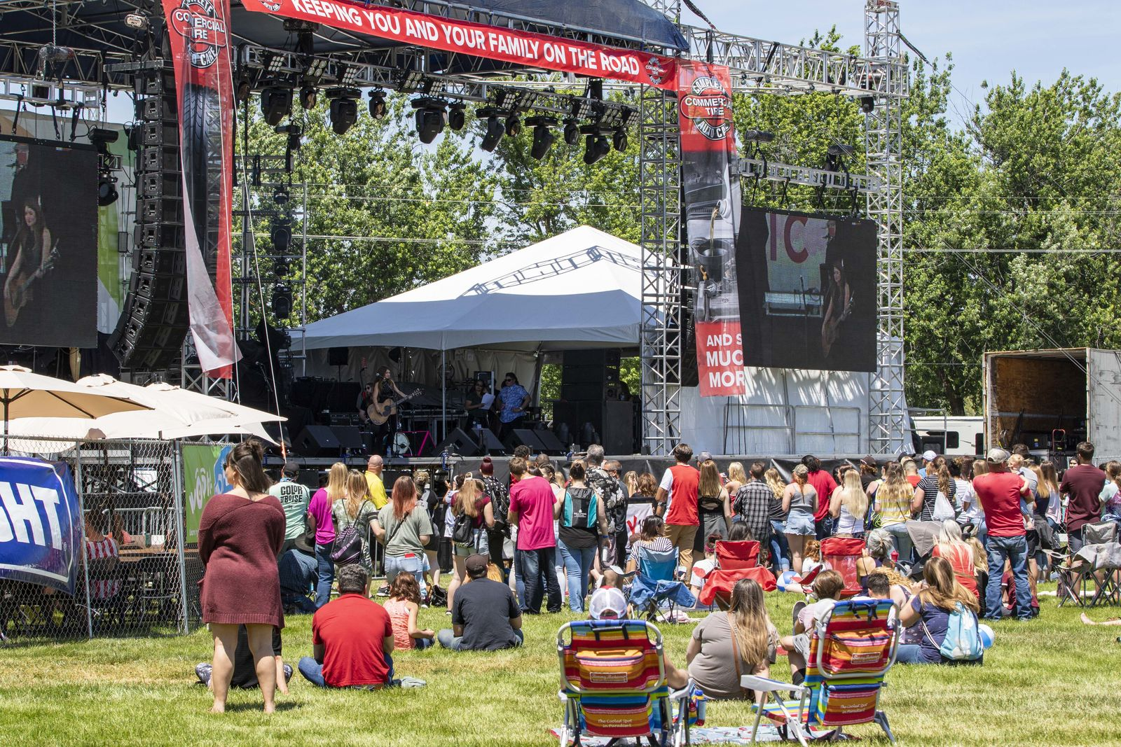 The Boise Music Festival is in full swing at Expo Idaho. The annual event draws large crowds and features celebrity headliners like this years main act, Pit Bull. (Photos by Axel Quartarone){ }