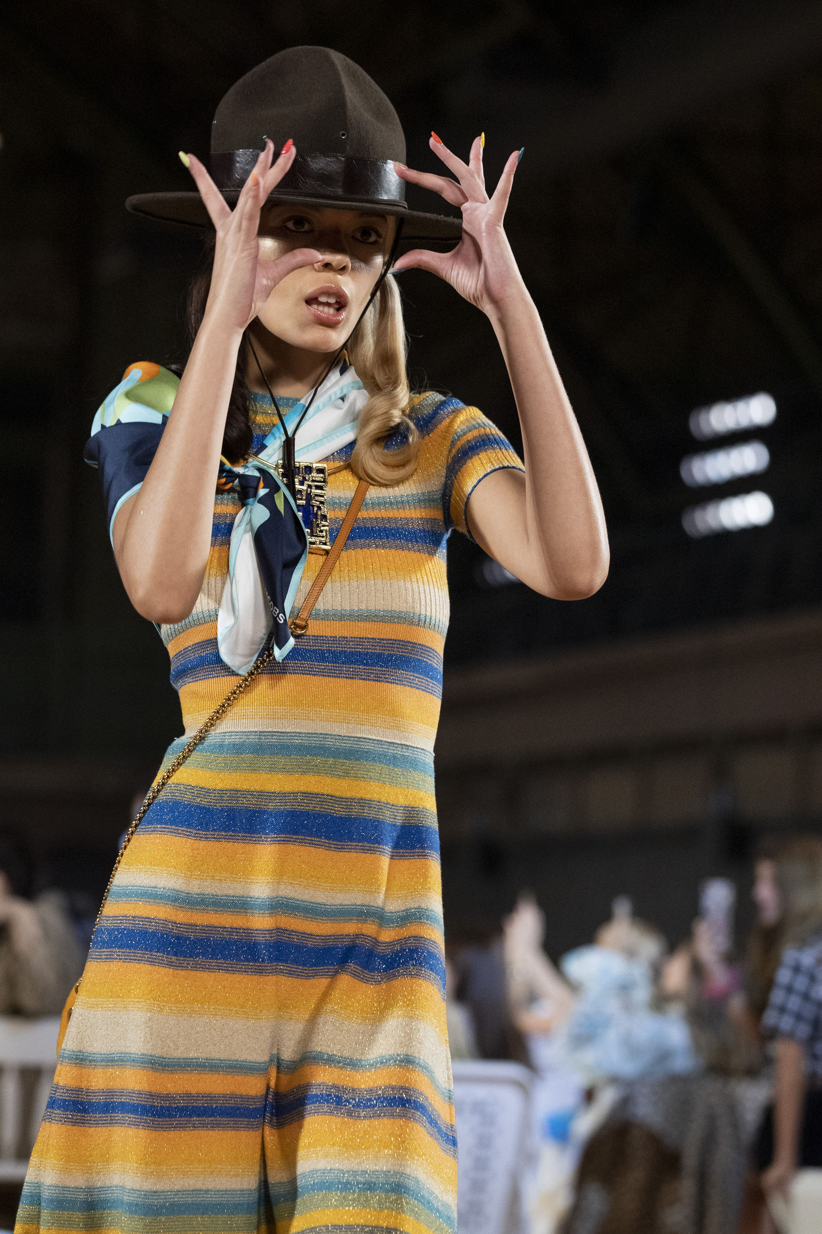 The Marc Jacobs collection is modeled during Fashion Week, Wednesday, Sept. 11, 2019, in New York. (AP Photo/Mary Altaffer)