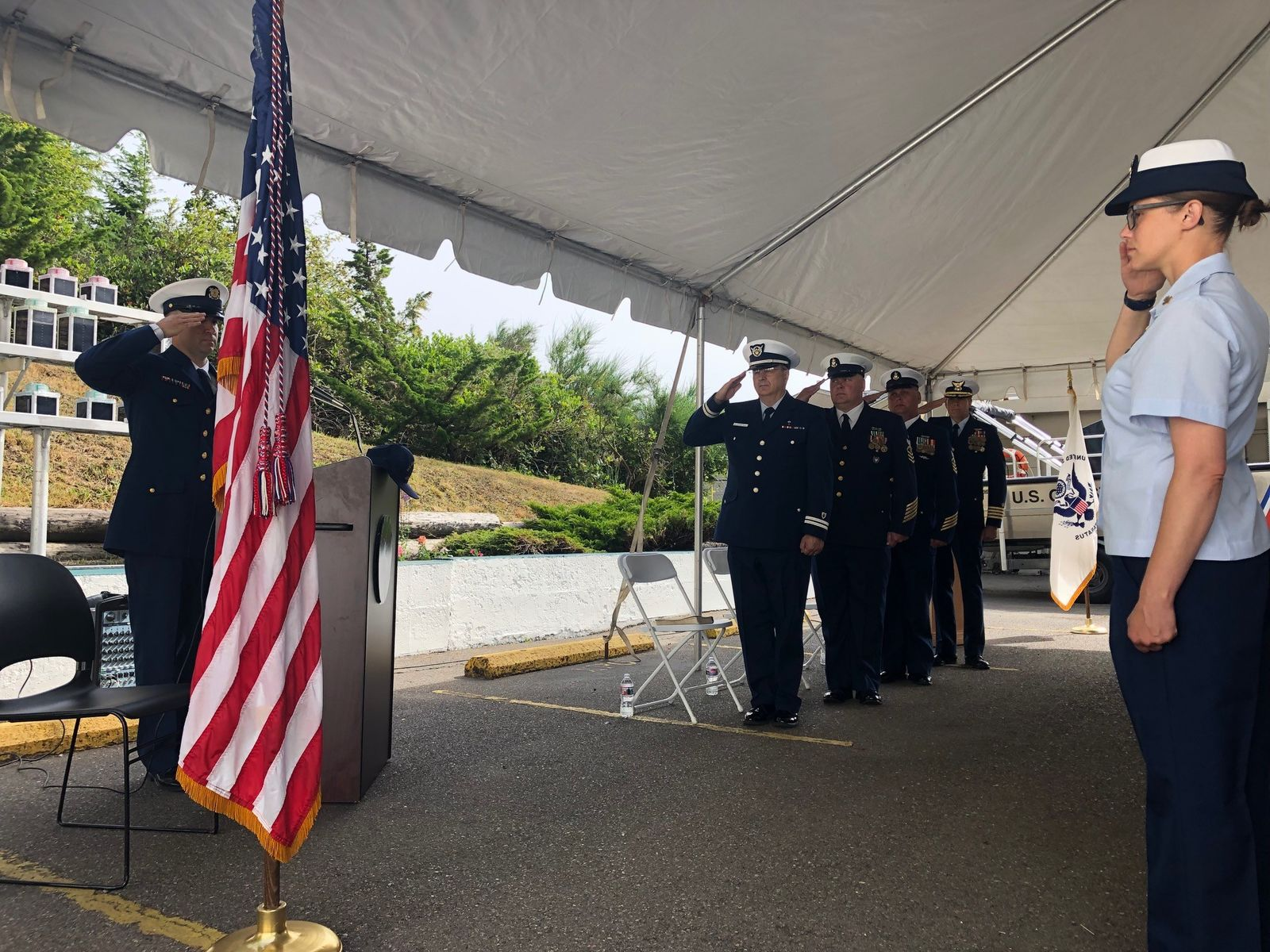 The US Coast Guard celebrated a change of command ceremony in Charleston, July 11, 2019. (SBG)