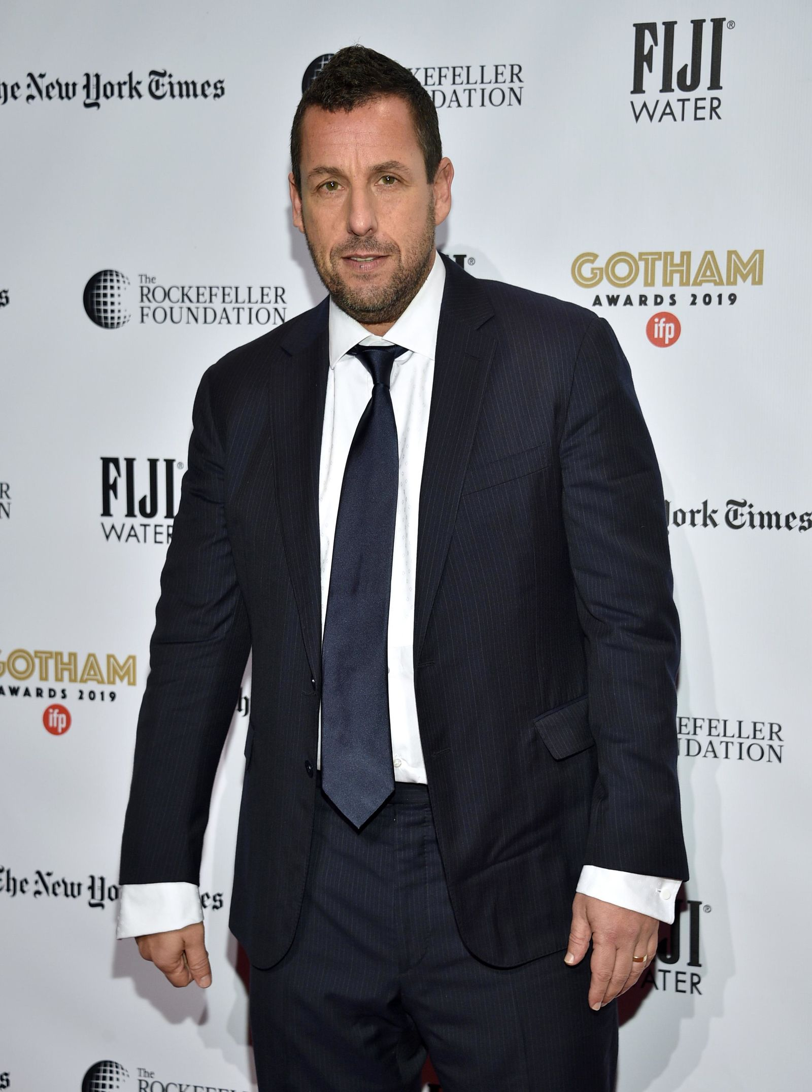 Adam Sandler attends the Independent Filmmaker Project's 29th annual IFP Gotham Awards at Cipriani Wall Street on Monday Dec. 2, 2019, in New York. (Photo by Evan Agostini/Invision/AP)
