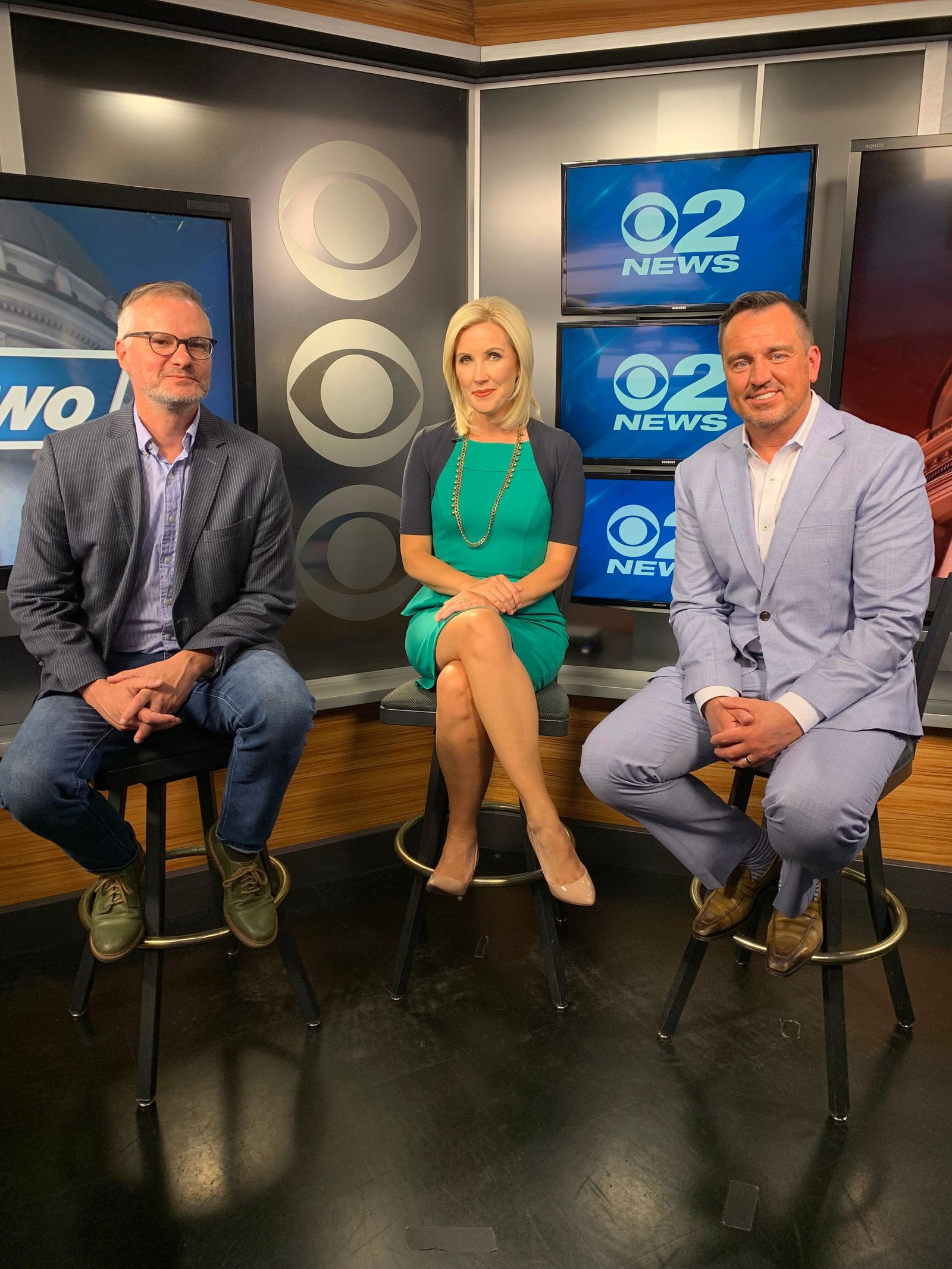 The milestone podcast featured 2News Anchor/Reporter Heidi Hatch hosting former Speaker of the House Greg Hughes (R) and guest Robert Gehrke, an award-winning columnist from The Salt Lake Tribune. (Photo: KUTV)<p></p>