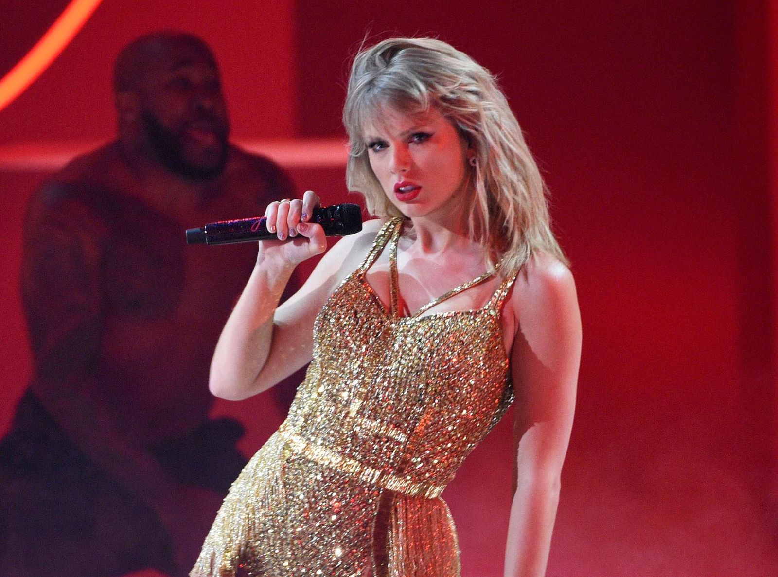 FILE - This Nov. 24, 2019 file photo shows Taylor Swift performing at the American Music Awards in Los Angeles. A documentary on Swift will kickoff the next Sundance Film Festival. (Photo by Chris Pizzello/Invision/AP, File)