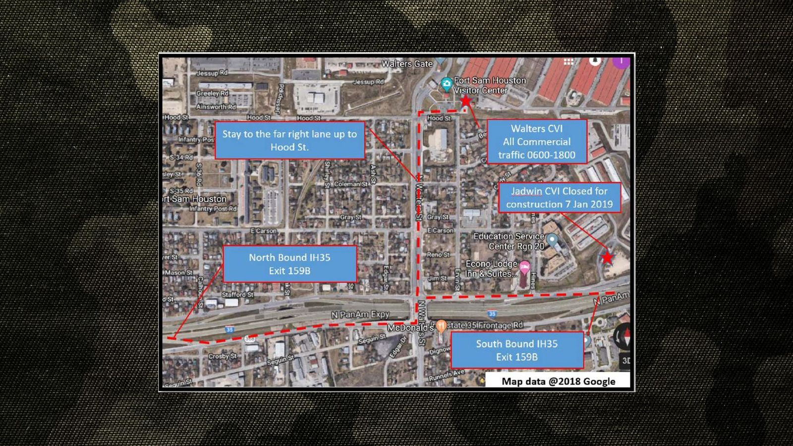 Construction map for JBSA Fort Sam Houston (Submitted graphic)