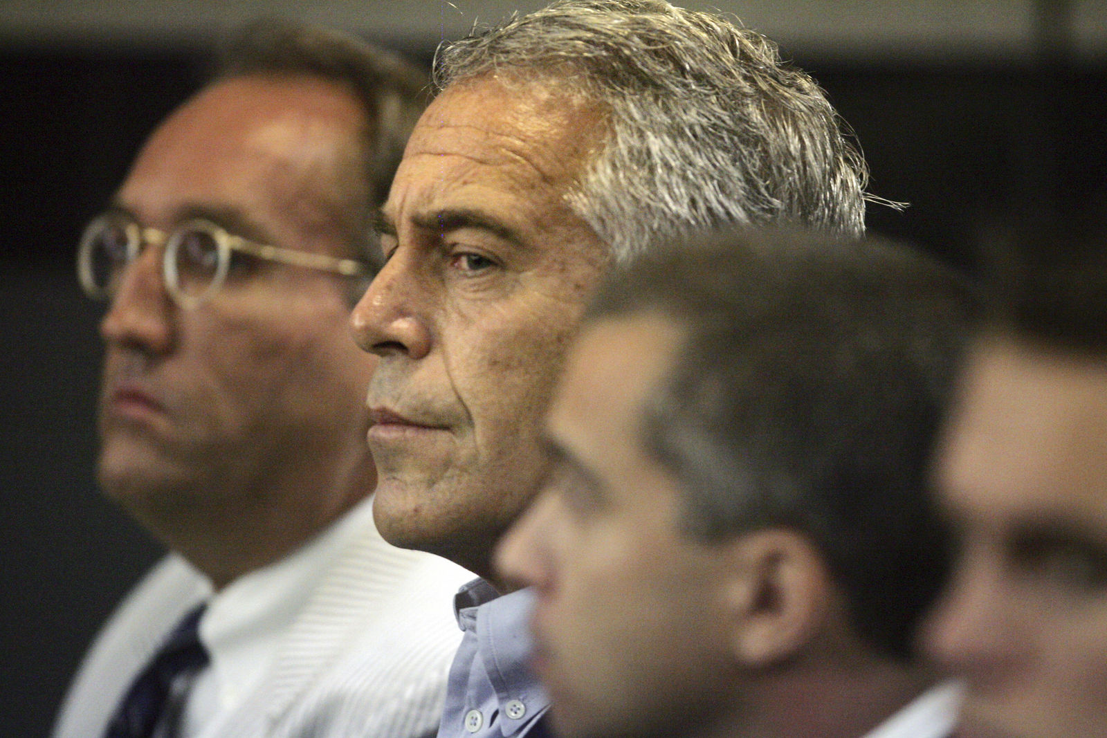FILE- In this July 30, 2008 file photo, Jeffrey Epstein appears in court in West Palm Beach, Fla. Three women are suing the estate of Epstein and others in lawsuits that cite rape and other forced sex acts while he served a Florida jail sentence and assaults that stretched to 2014. (Uma Sanghvi/Palm Beach Post via AP, File)