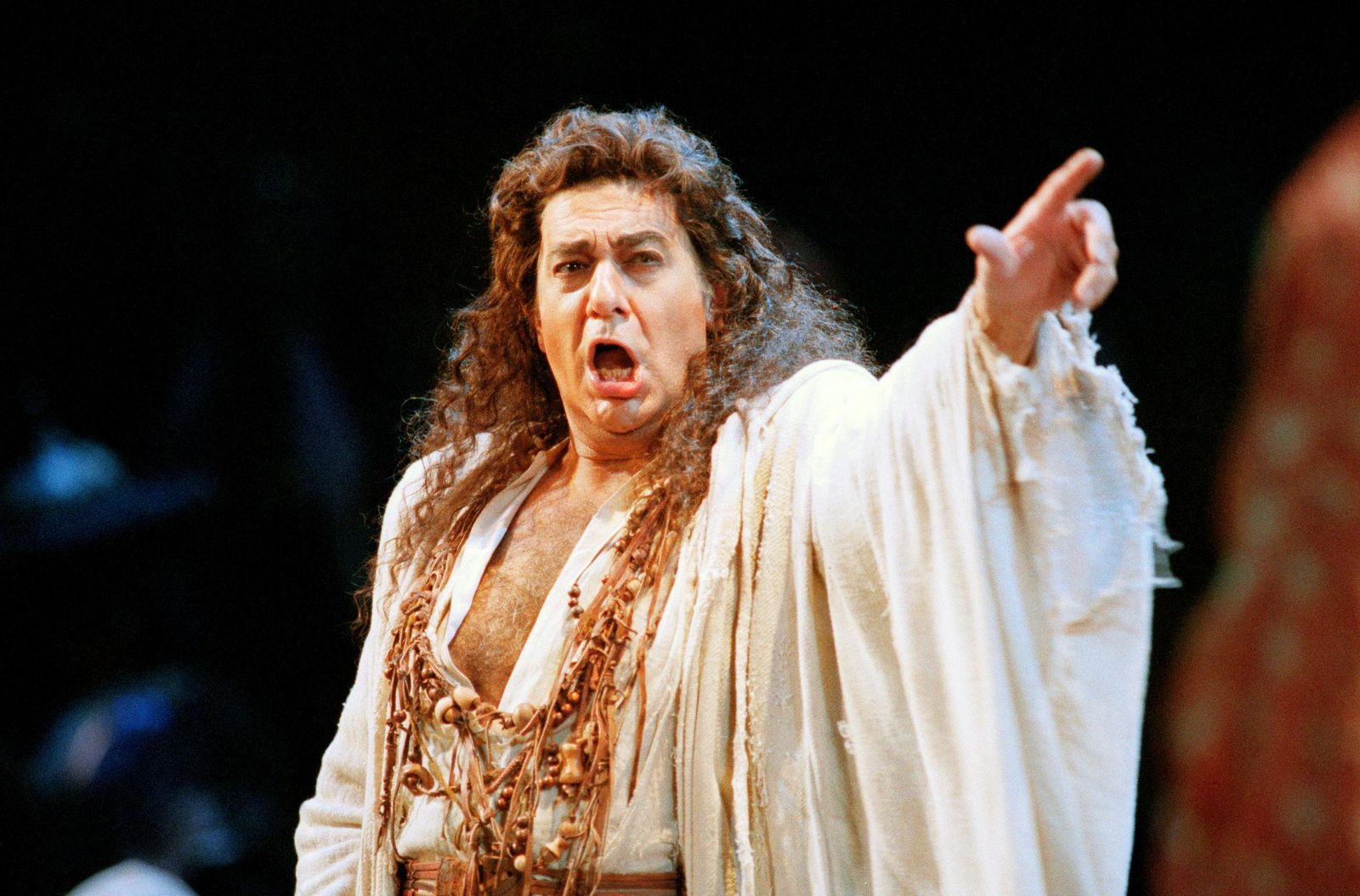 "FILE - In this Nov. 5, 1994 file photo, Placido Domingo performs in the San Francisco Opera's production of ""Herodiade"" in San Francisco. (AP Photo/Dwayne Newton)"