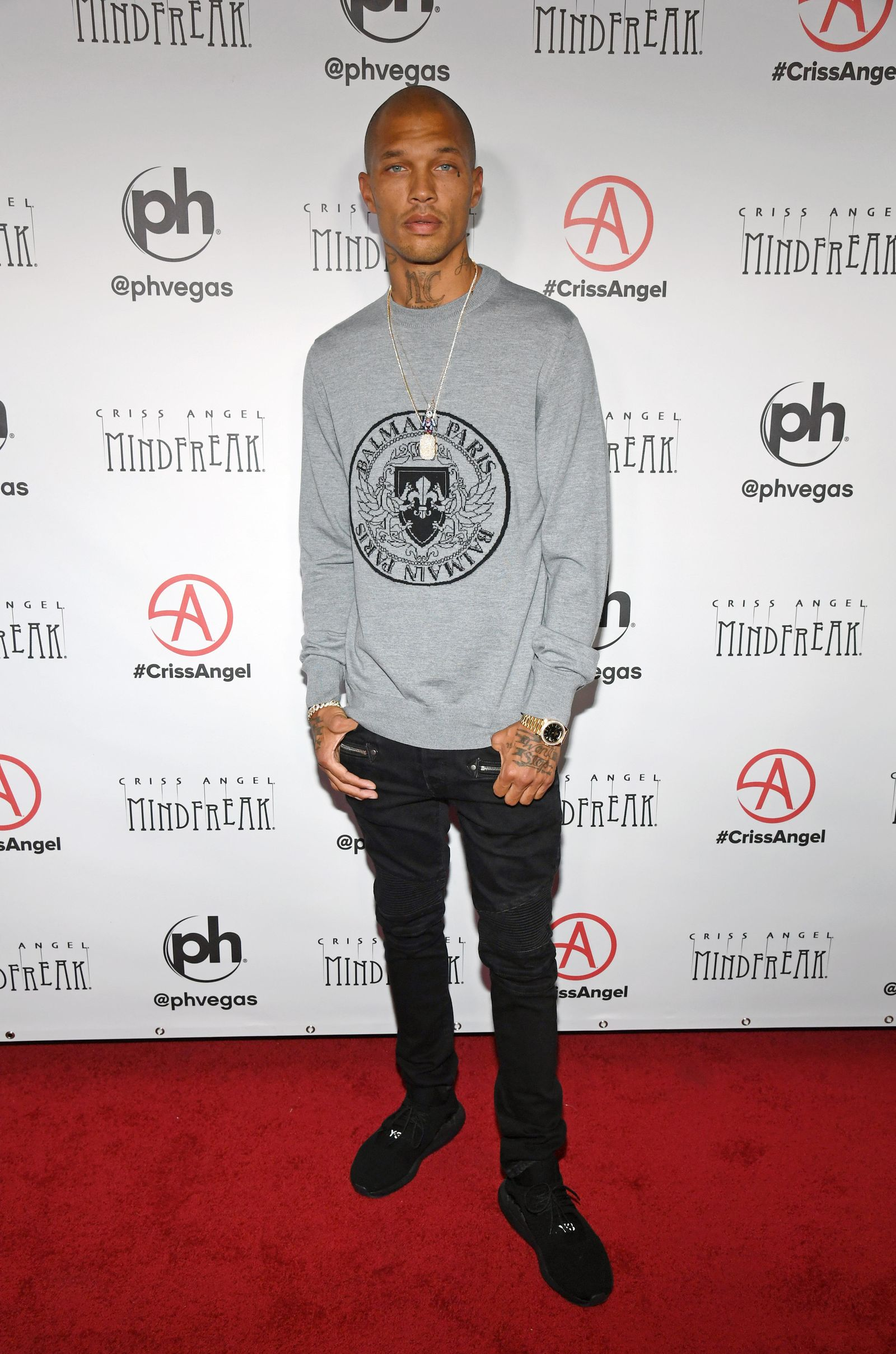 "LAS VEGAS, NEVADA - JANUARY 19:  Model Jeremy Meeks attends the grand opening of ""Criss Angel MINDFREAK"" at Planet Hollywood Resort & Casino on January 19, 2019 in Las Vegas, Nevada.  (Photo by Ethan Miller/Getty Images for Planet Hollywood Resort & Casino)"