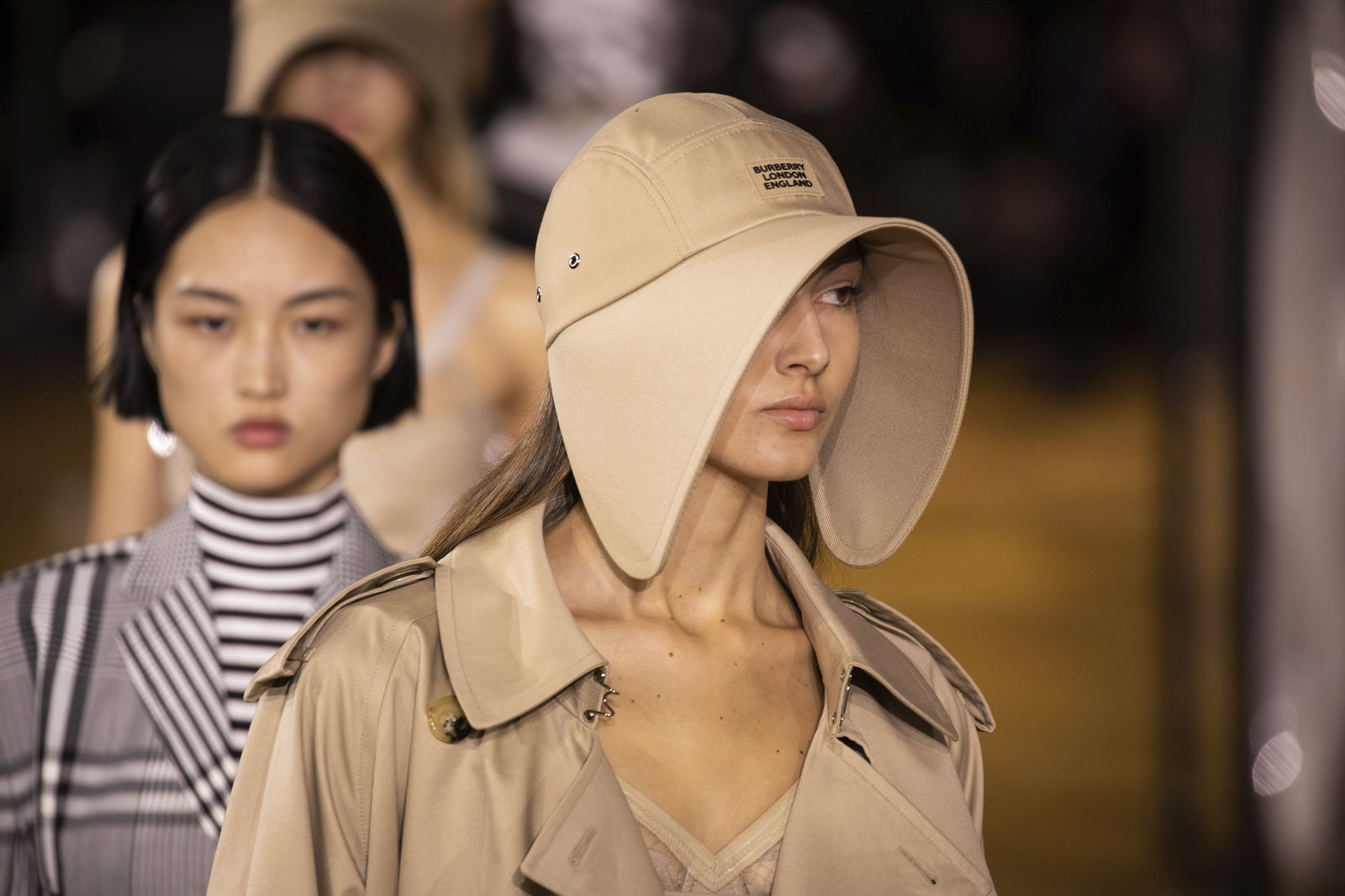 A model wears a creation by Burberry at the Spring/Summer 2020 fashion week runway show in London, Monday, Sept. 16, 2019. (Photo by Vianney Le Caer/Invision/AP)