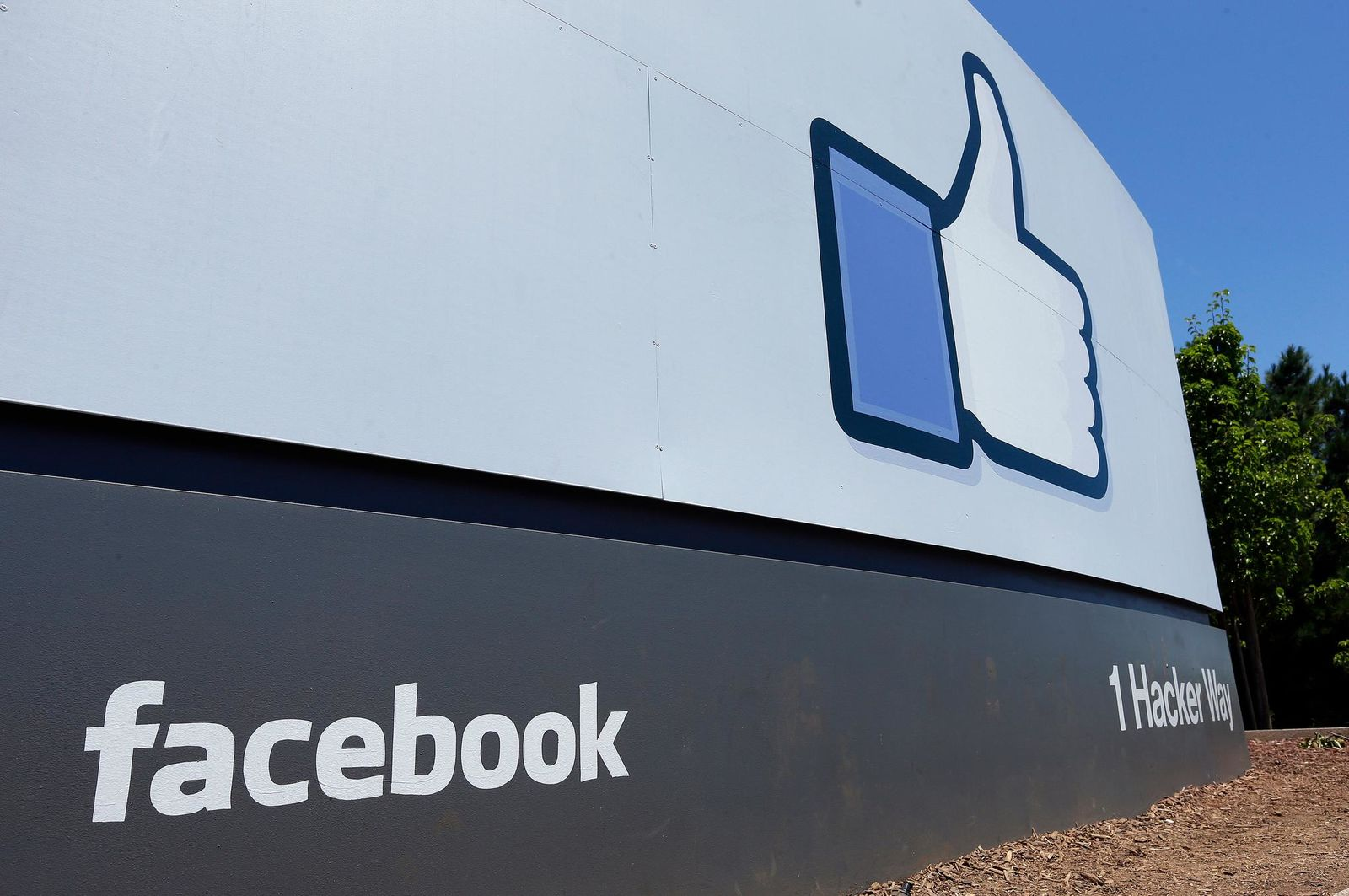 FILE - This July 16, 2013, file photo, shows a sign at Facebook headquarters in Menlo Park, Calif.{ } (AP Photo/Ben Margot, File)