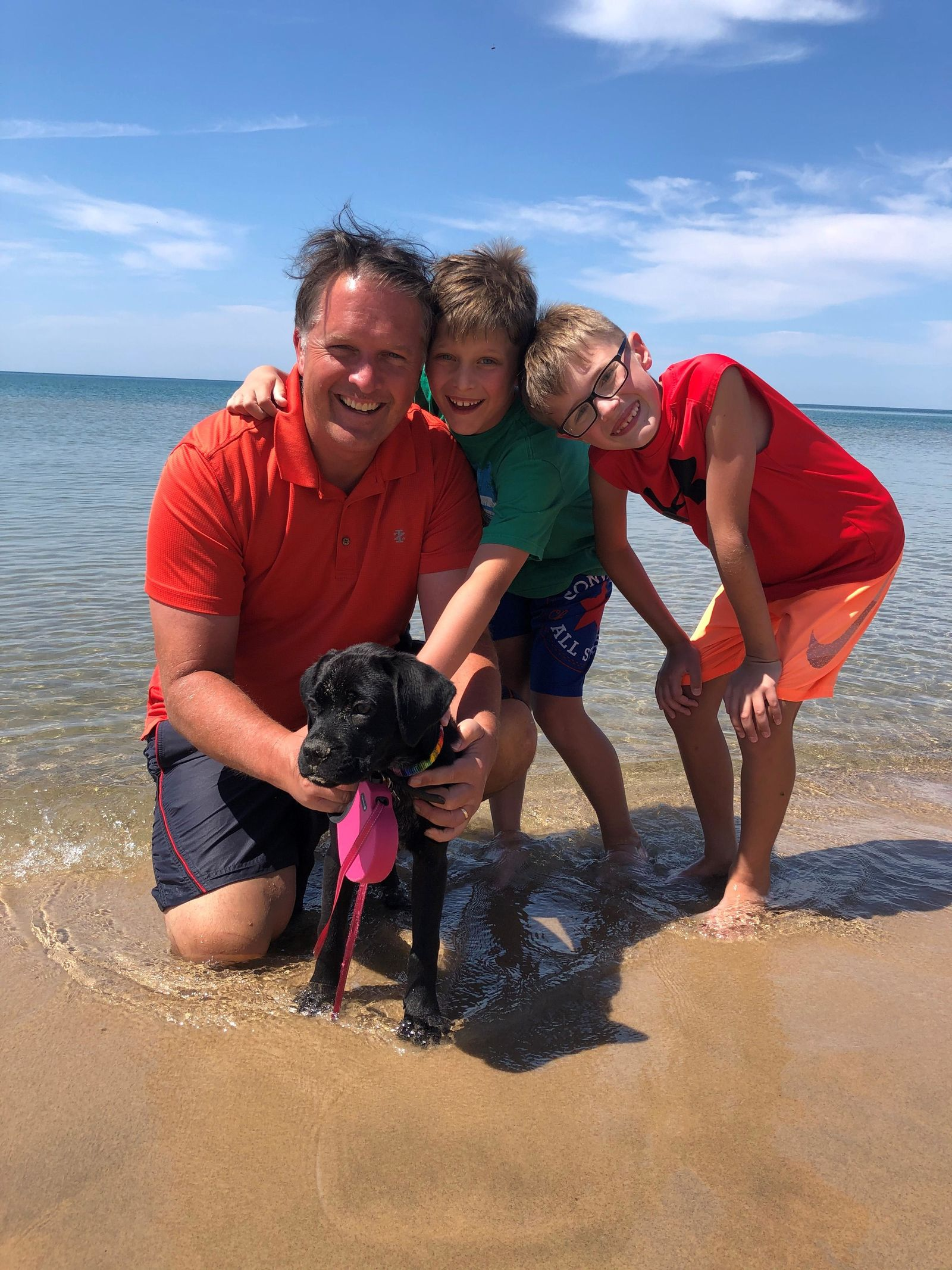 Morning anchor Kirk Mason recently brought his dog Dolly into the family. (WWMT)
