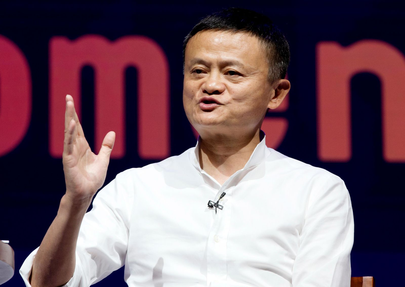 FILE - In this Oct. 12, 2018, file photo, Chairman of Alibaba Group Jack Ma speaks during a seminar in Bali, Indonesia.. (AP Photo/Firdia Lisnawati, File)
