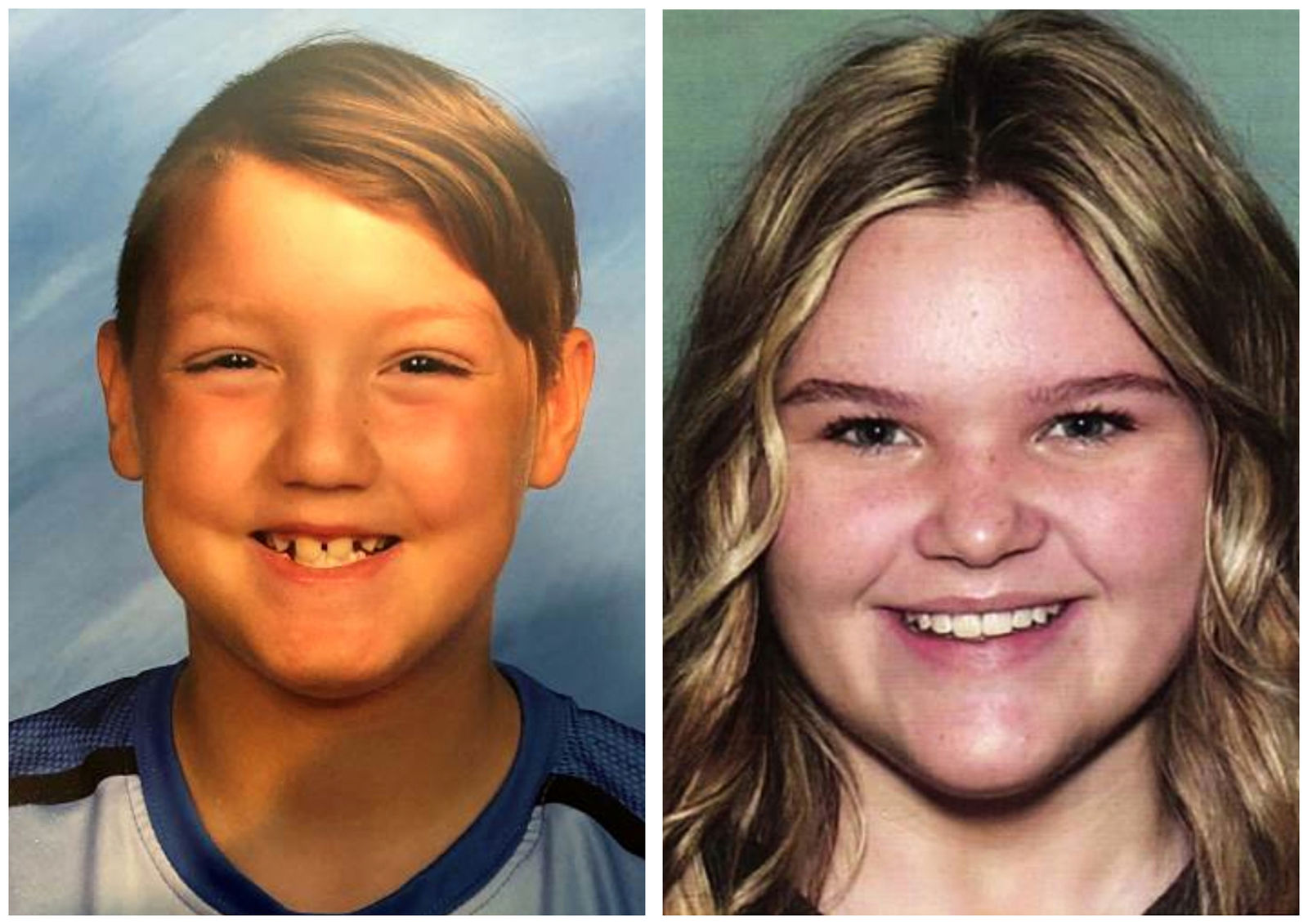 FILE - This combination of undated file photos released by the National Center for Missing & Exploited Children show missing children Joshua Vallow, left, and Tylee Ryan. (National Center for Missing & Exploited Children via AP, File)